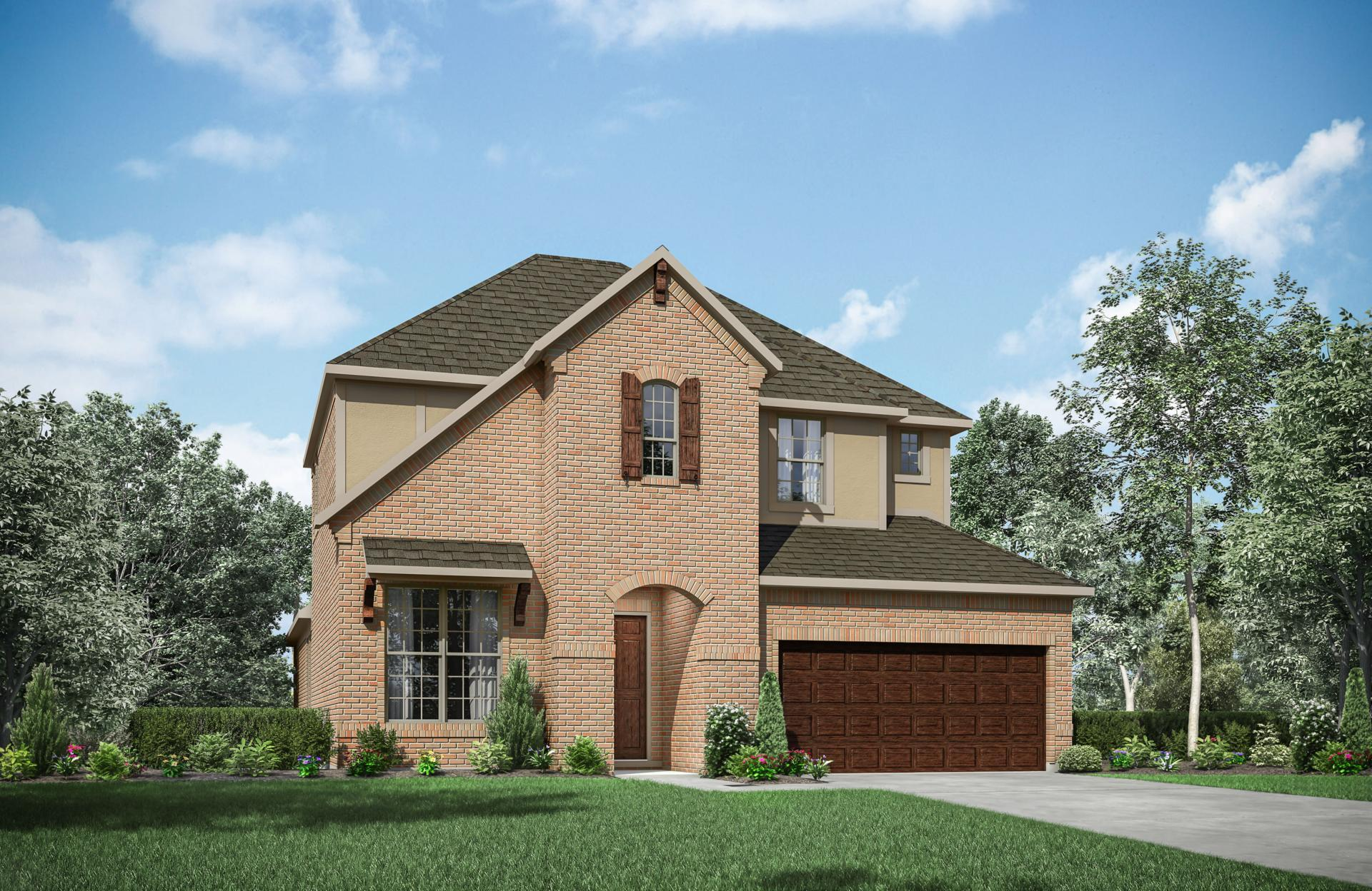 Exterior featured in the Rosella By Drees Custom Homes in Dallas, TX
