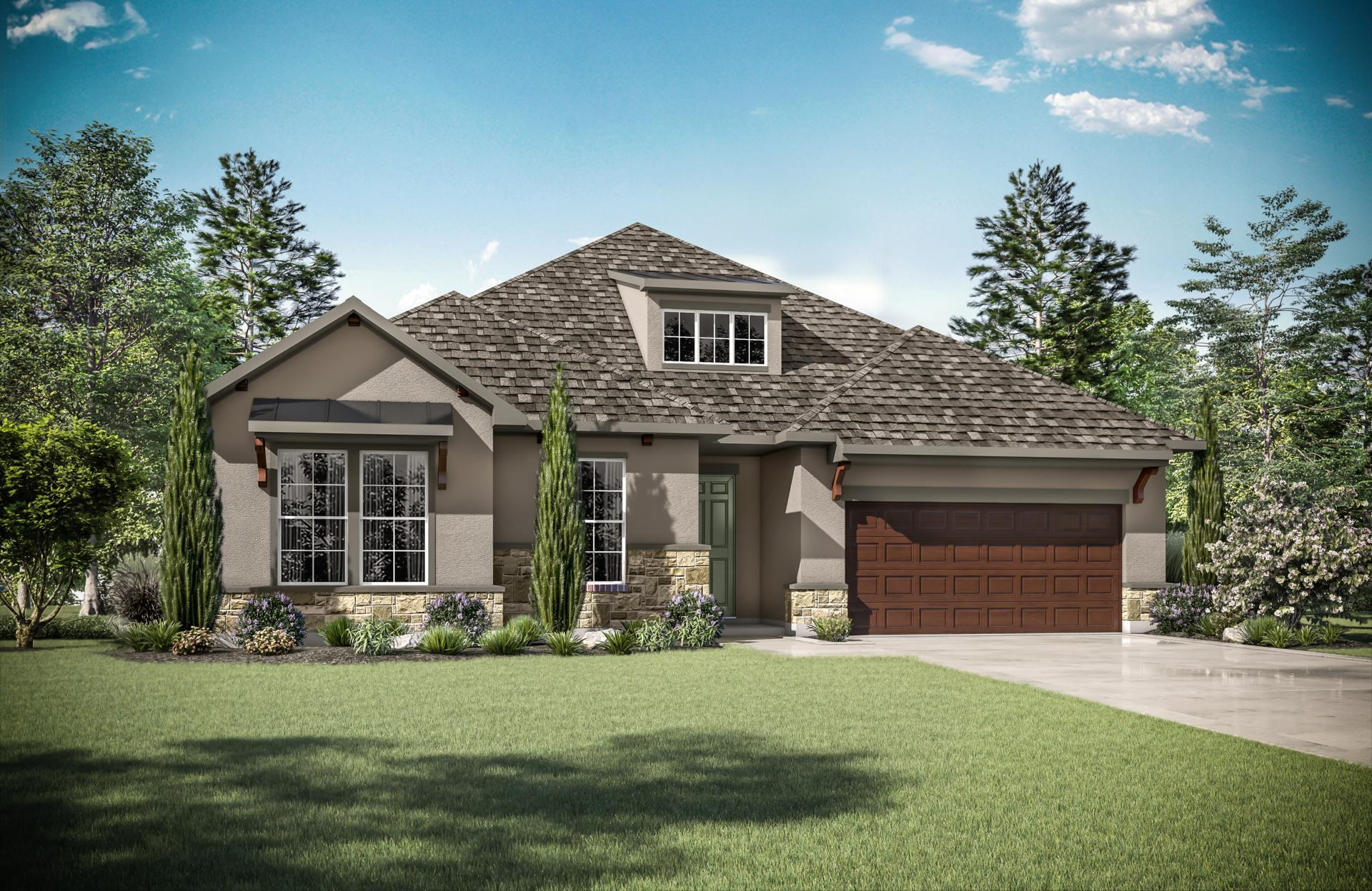 Exterior featured in the Brynlee By Drees Custom Homes in Austin, TX