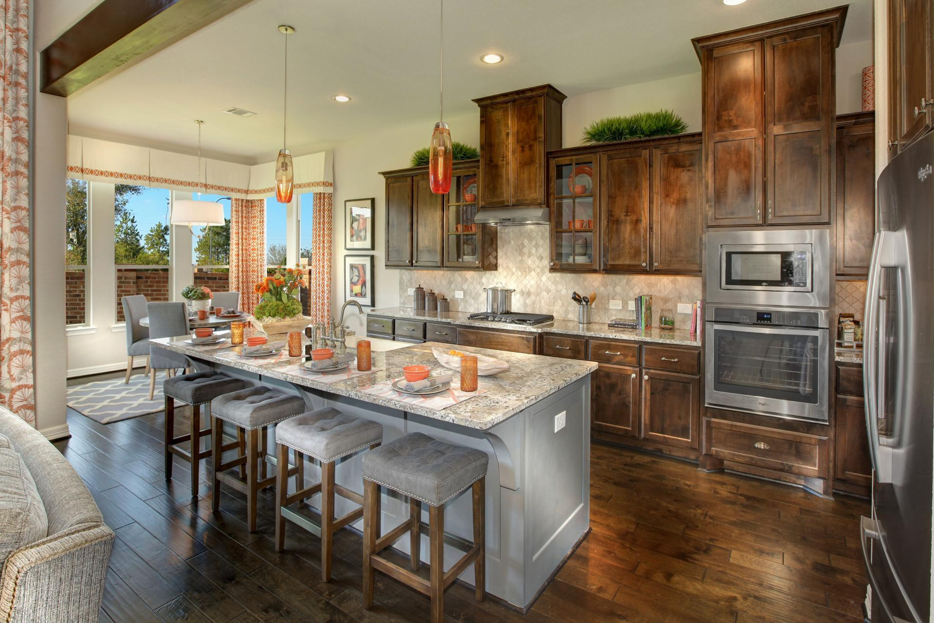 Kitchen featured in the Deerfield II By Drees Custom Homes in Austin, TX