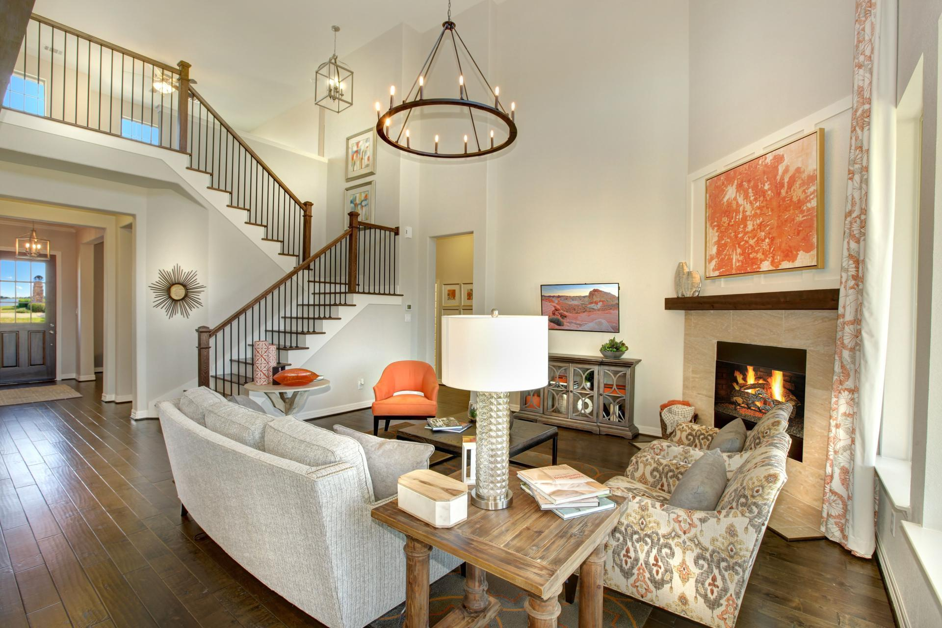 Living Area featured in the Deerfield II By Drees Custom Homes in Austin, TX