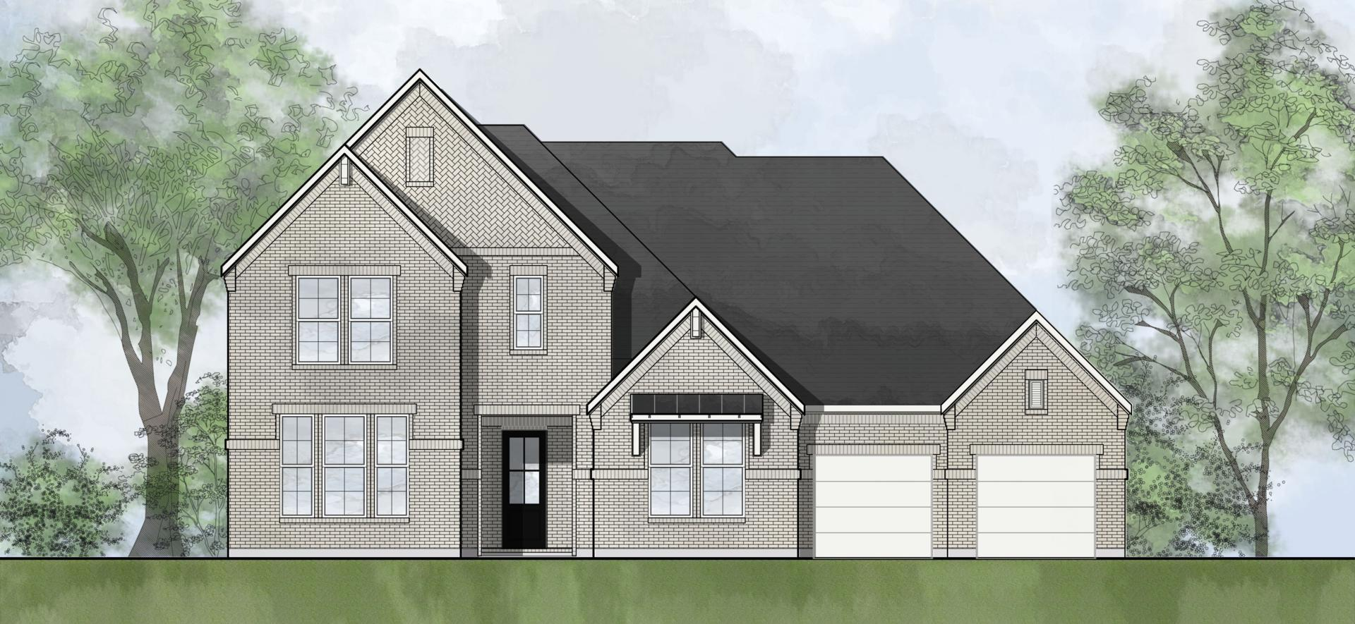 Exterior featured in the Somerville By Drees Custom Homes in Houston, TX