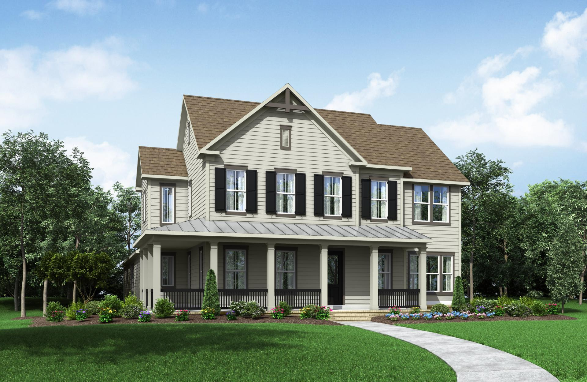 Exterior featured in the Brayden By Drees Custom Homes in Dallas, TX