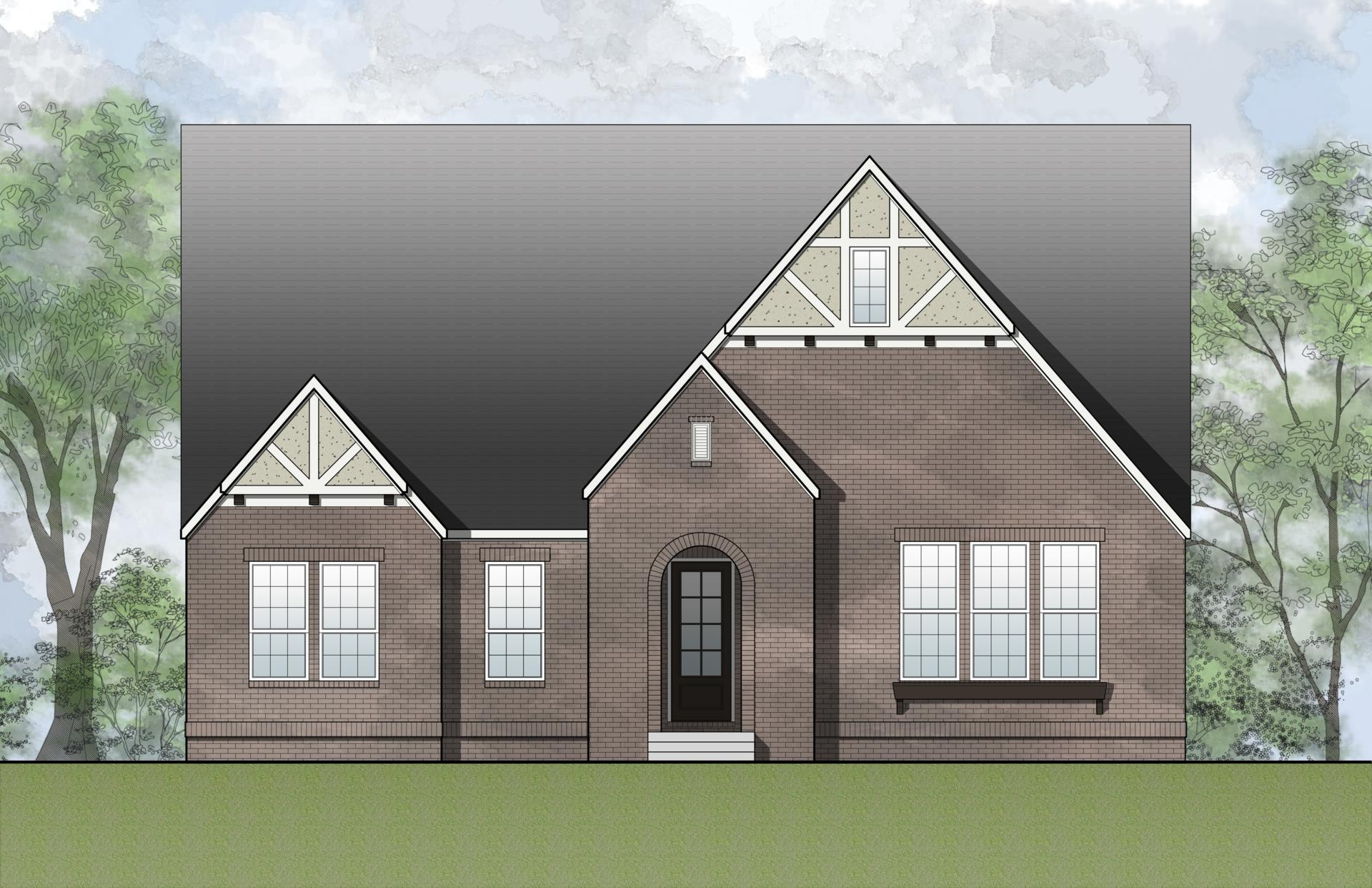 Exterior featured in the Brynlee IV By Drees Custom Homes in Dallas, TX