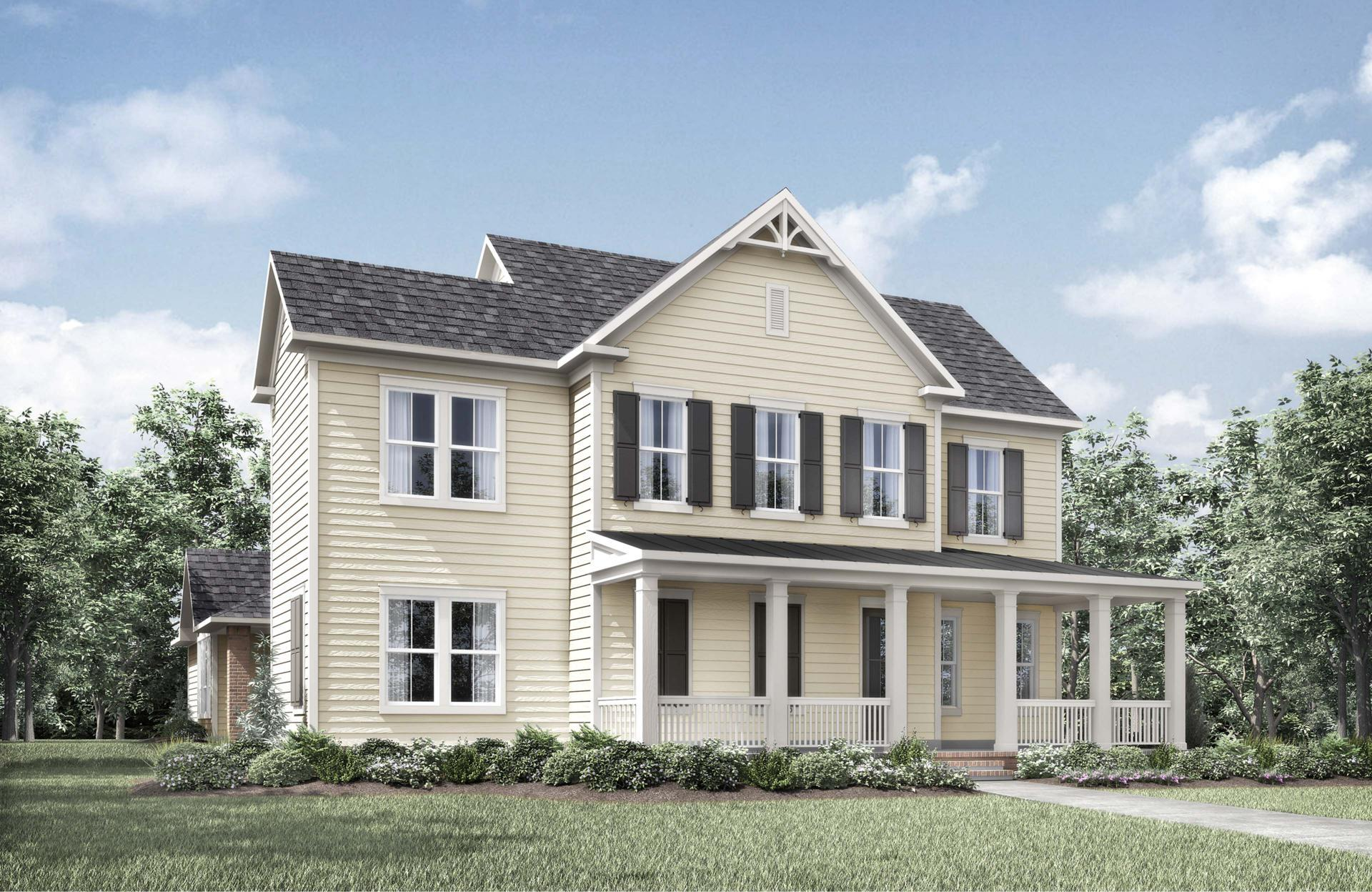 Exterior featured in the Cambria II By Drees Custom Homes in Dallas, TX