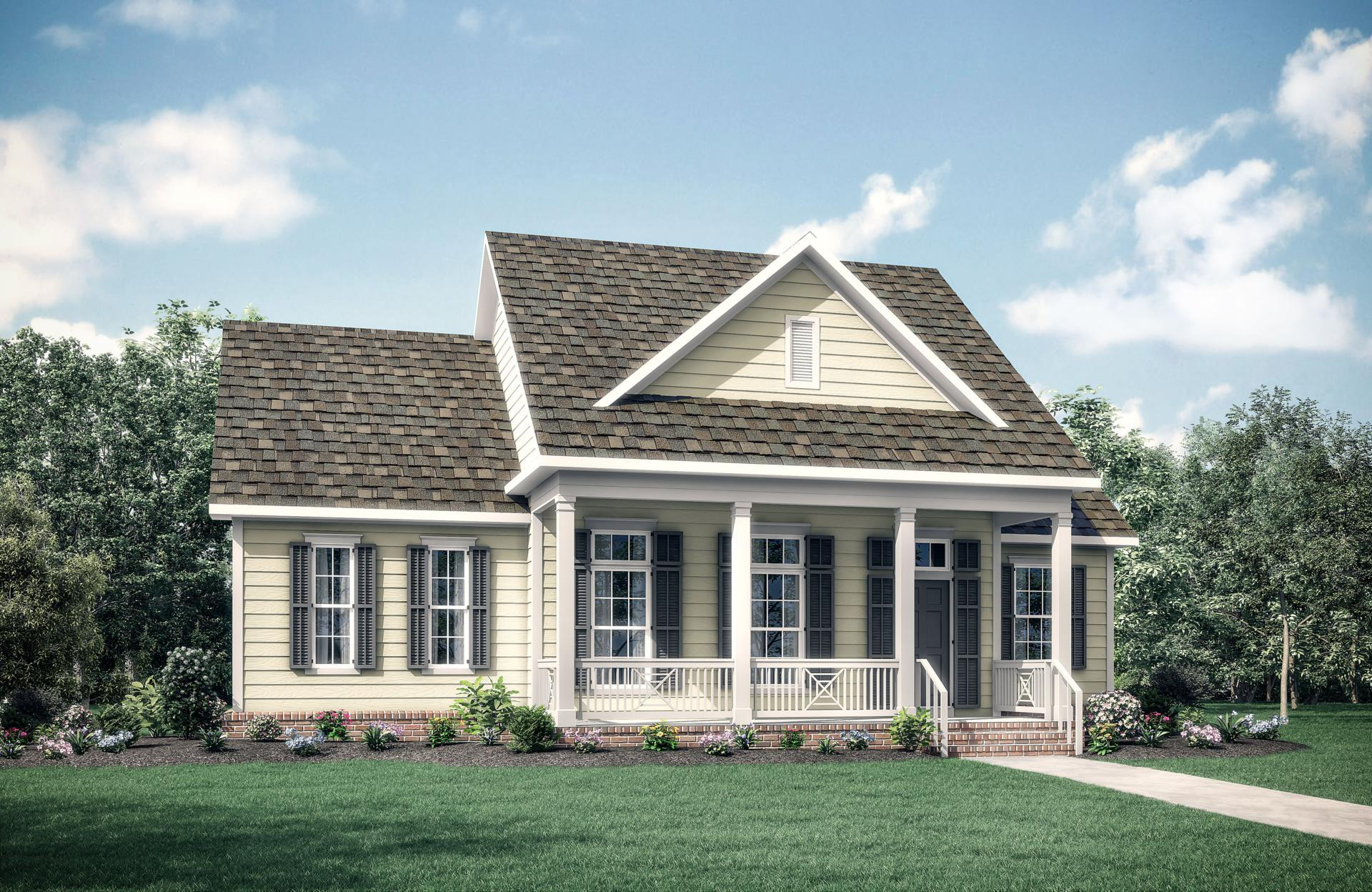 Exterior featured in the Corona By Drees Custom Homes in Dallas, TX