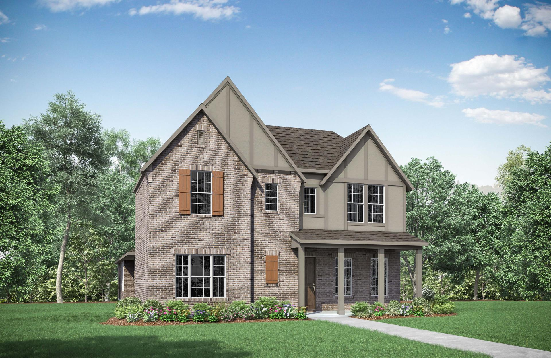 Exterior featured in the Violet By Drees Custom Homes in Dallas, TX
