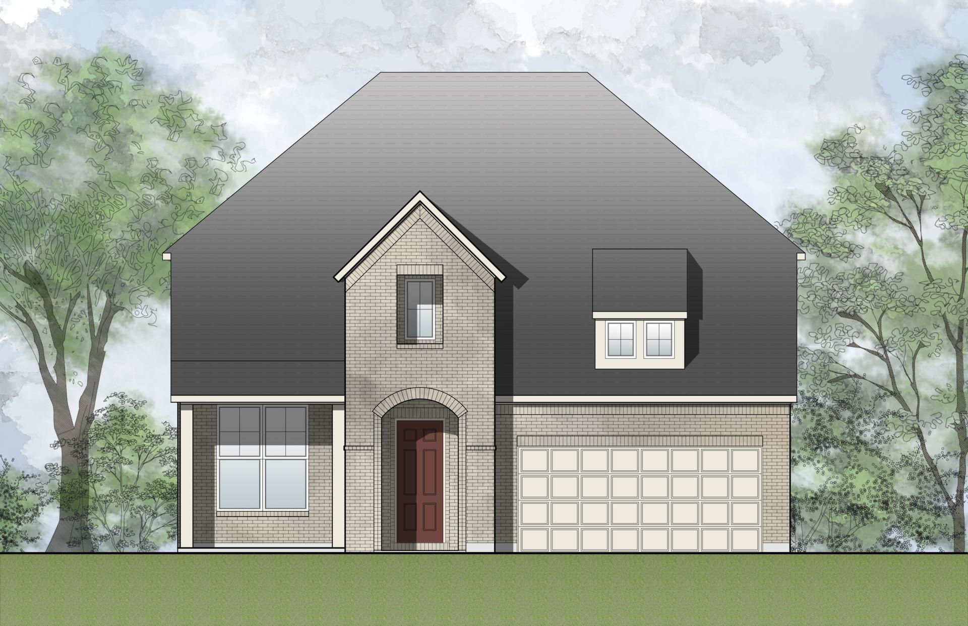 Exterior featured in the Brendan By Drees Custom Homes in Fort Worth, TX