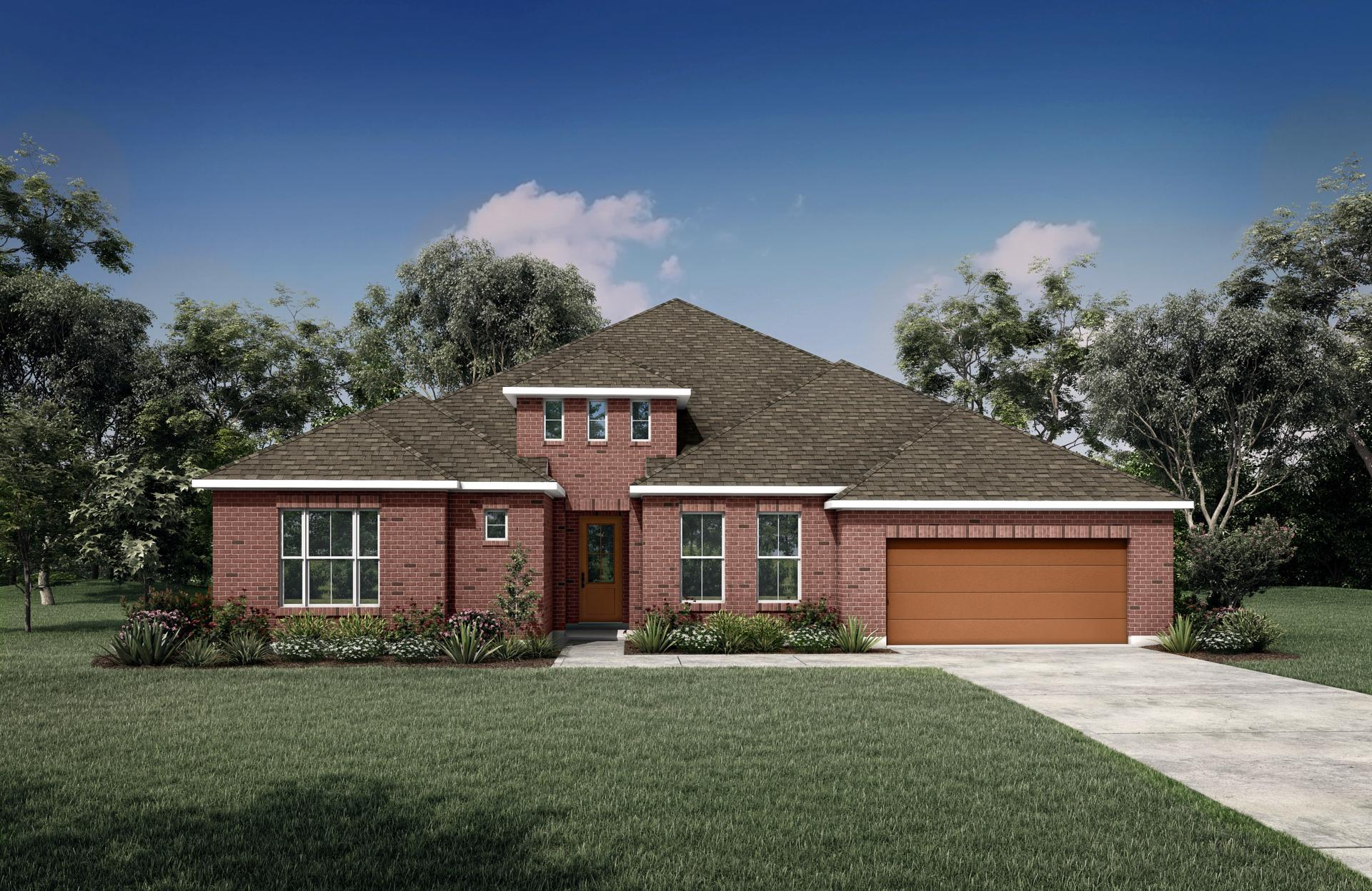 Exterior featured in the Palmdale By Drees Custom Homes in Dallas, TX