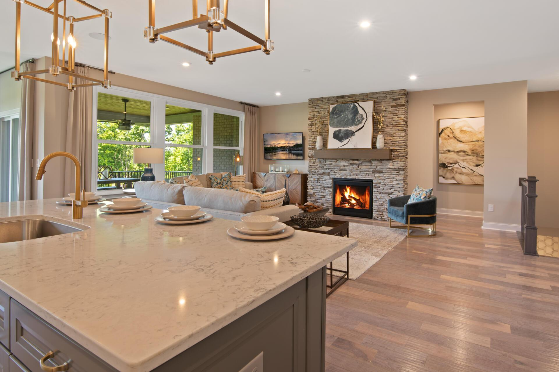 Living Area featured in the Lyndhurst By Drees Homes in Cleveland, OH