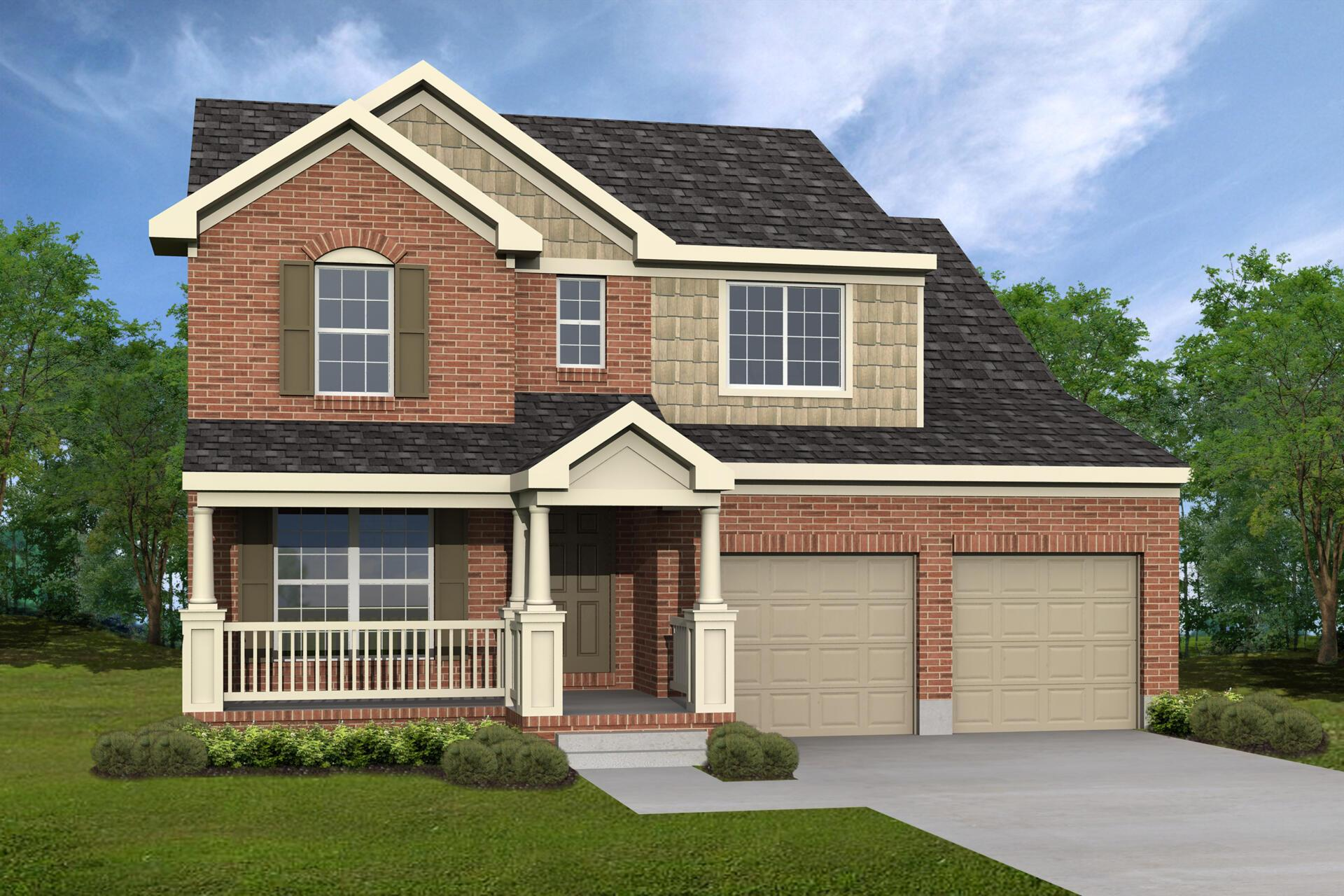 Exterior featured in the Saxon By Drees Homes in Cincinnati, OH