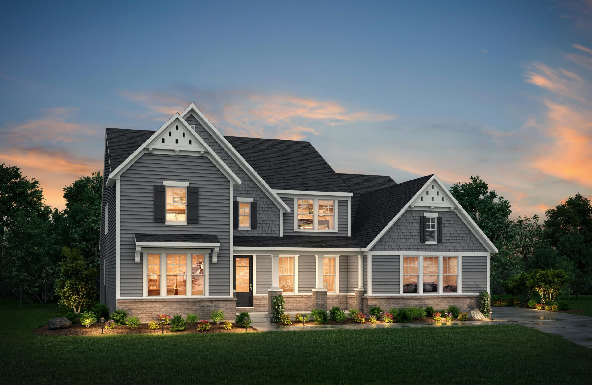 Exterior featured in the Crestwood By Drees Homes in Indianapolis, IN
