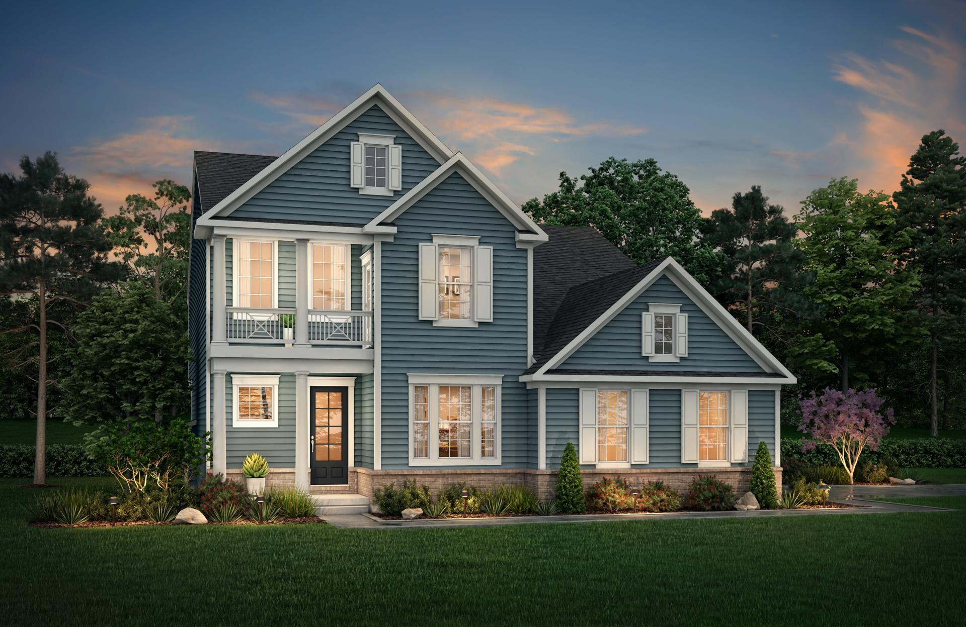 Exterior featured in the Layton By Drees Homes in Indianapolis, IN