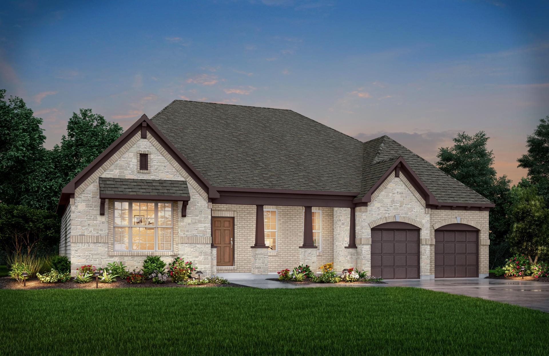 Exterior featured in the Sebastian By Drees Homes in Indianapolis, IN