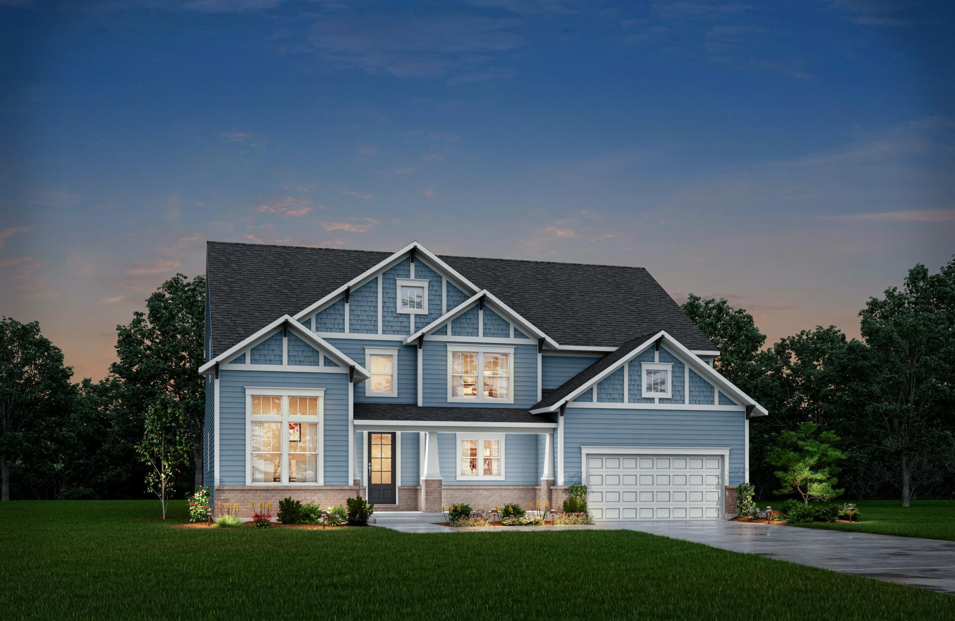 Exterior featured in the Winfield By Drees Homes in Indianapolis, IN