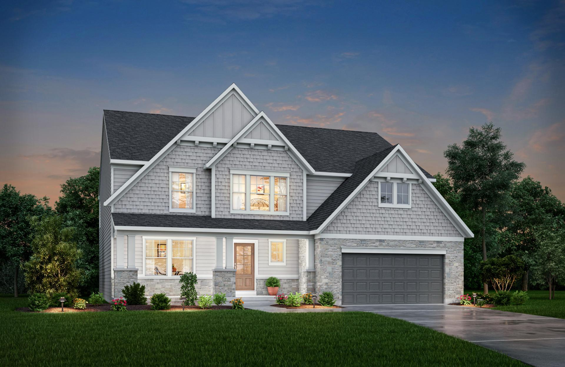 Exterior featured in the Alden By Drees Homes in Indianapolis, IN