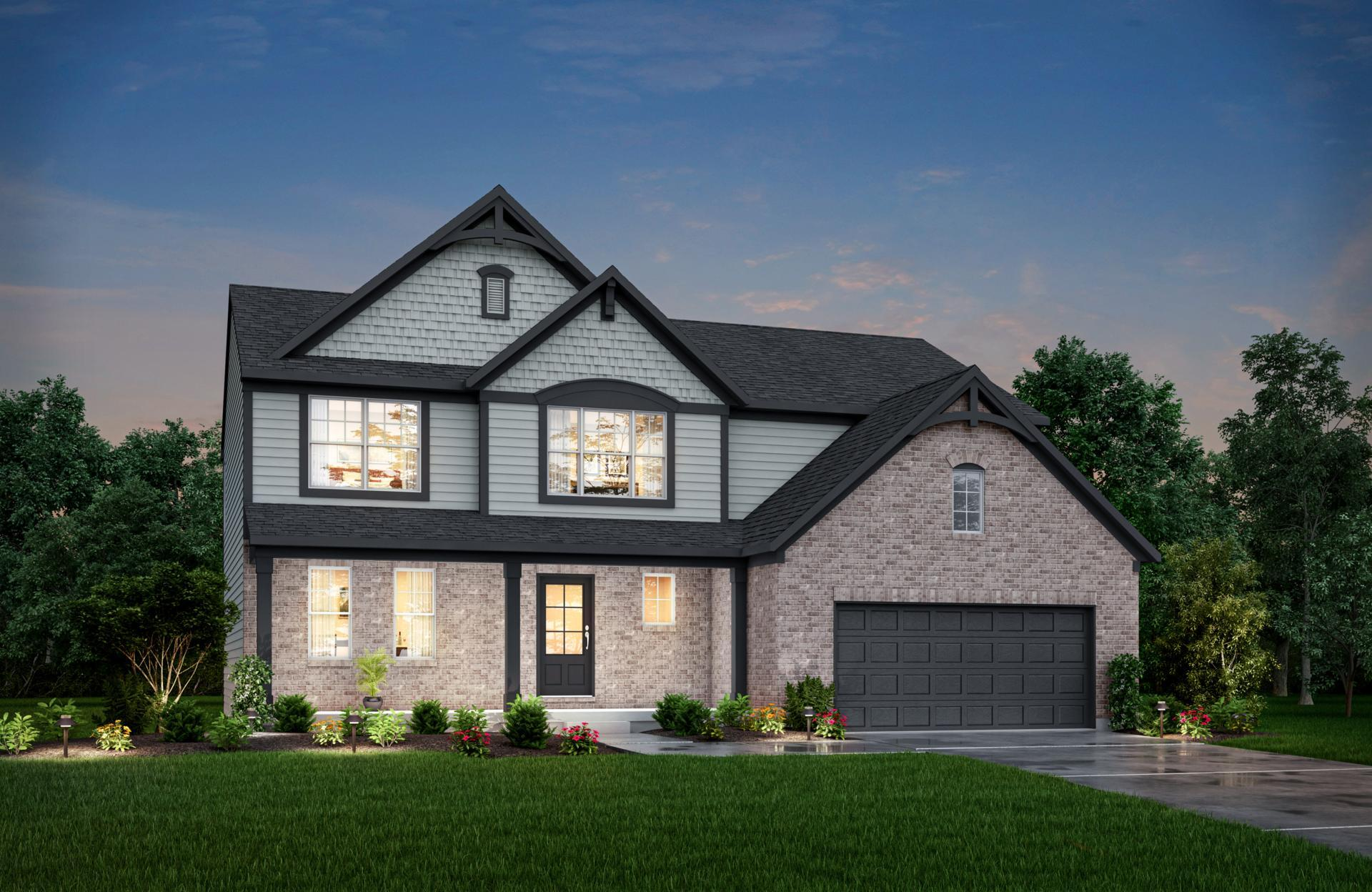 Exterior featured in the Alwick By Drees Homes in Indianapolis, IN