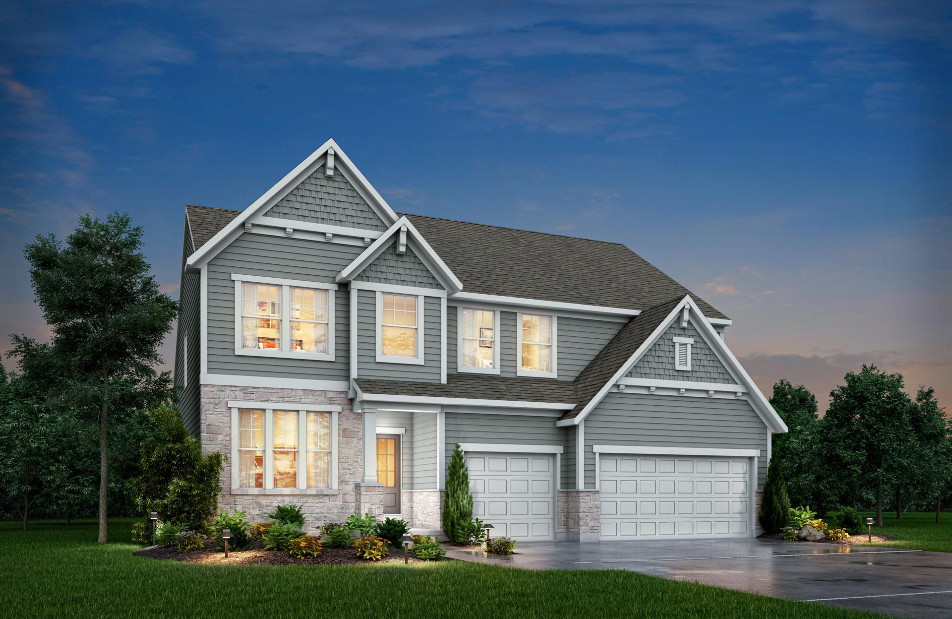 Exterior featured in the Belleville By Drees Homes in Indianapolis, IN