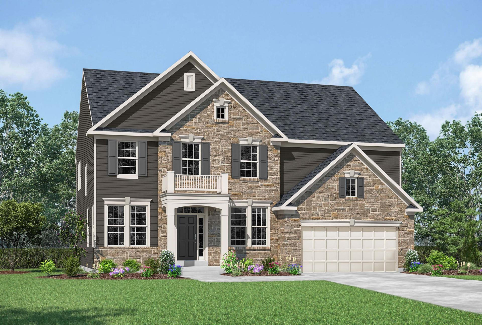 Exterior featured in the Buchanan By Drees Homes in Indianapolis, IN