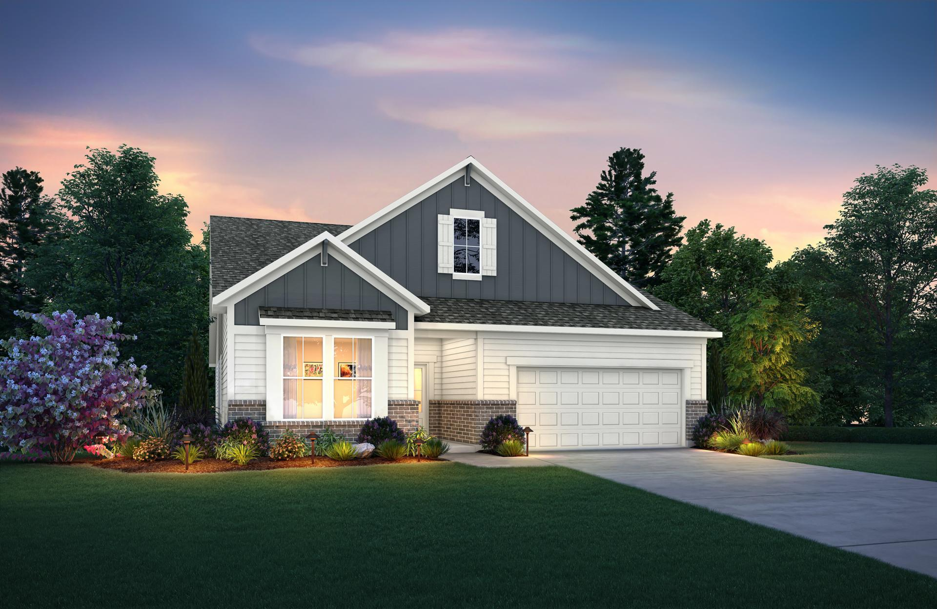 Exterior featured in the Clearwater By Drees Homes in Indianapolis, IN