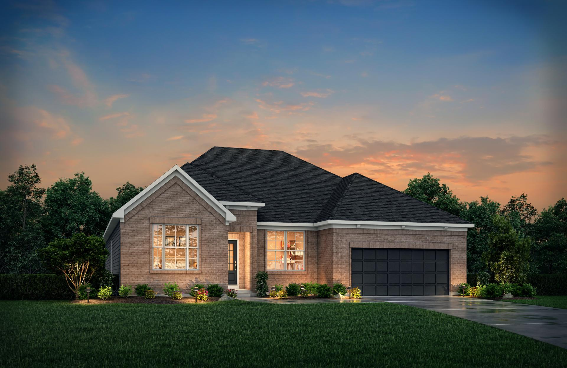 Exterior featured in the Shelburn By Drees Homes in Indianapolis, IN