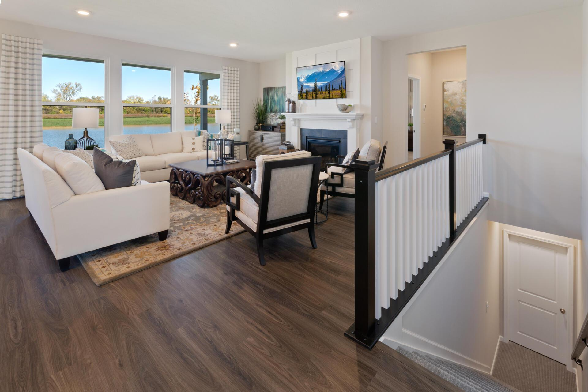 Living Area featured in the Shelburn By Drees Homes in Indianapolis, IN