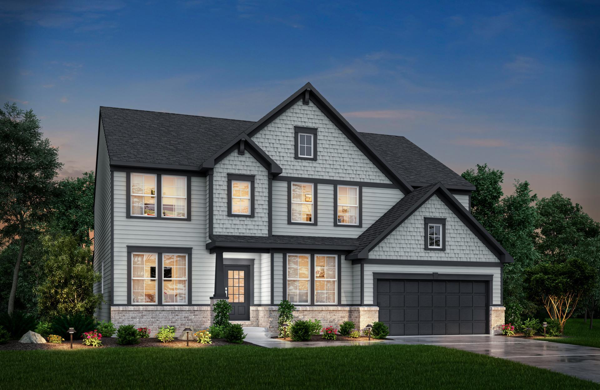 Exterior featured in the Vanderburgh By Drees Homes in Indianapolis, IN