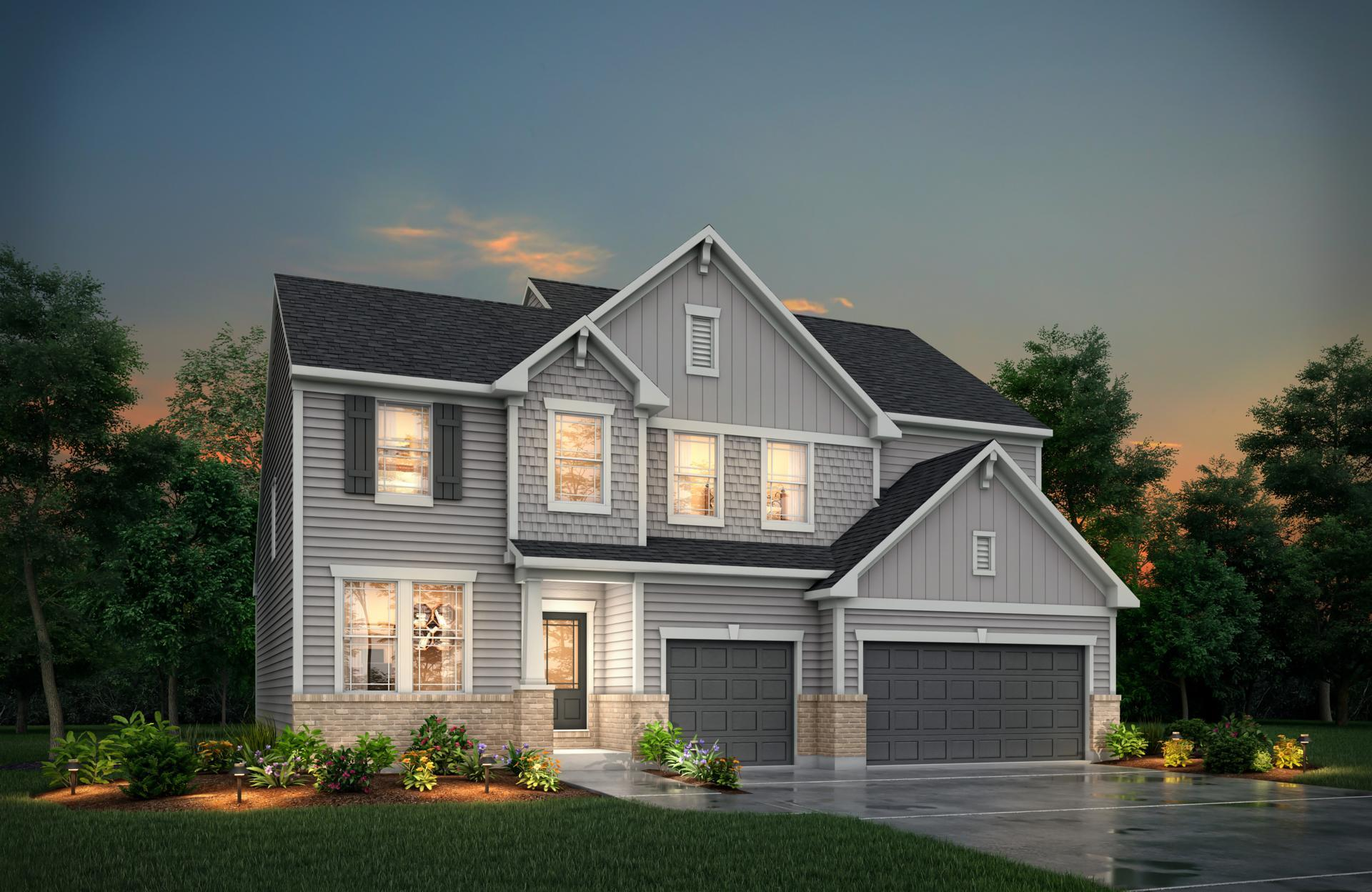 Exterior featured in the Belleville By Drees Homes in Cleveland, OH