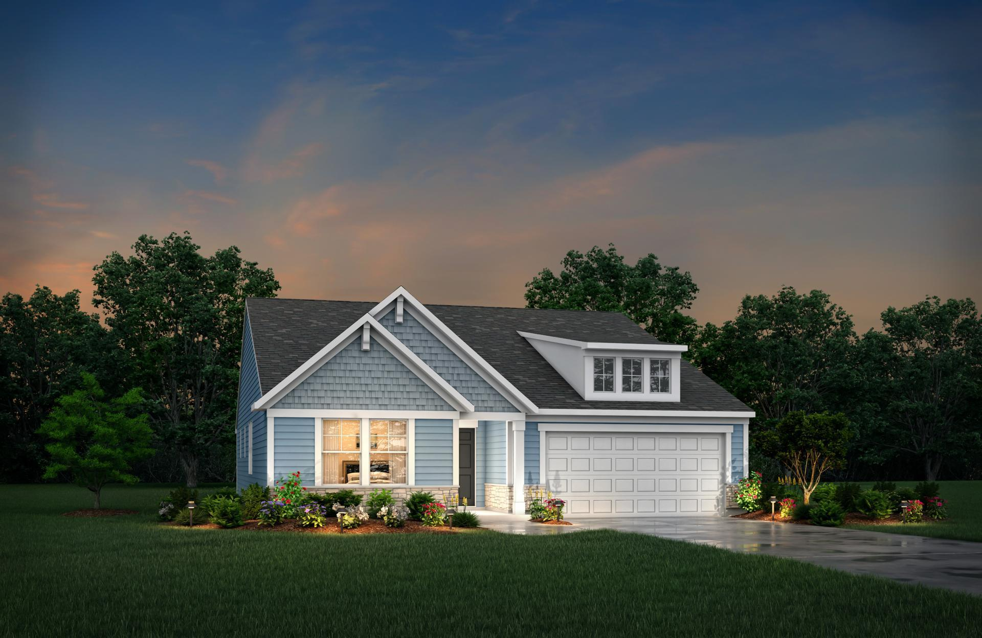 Exterior featured in the Sarasota By Drees Homes in Cleveland, OH
