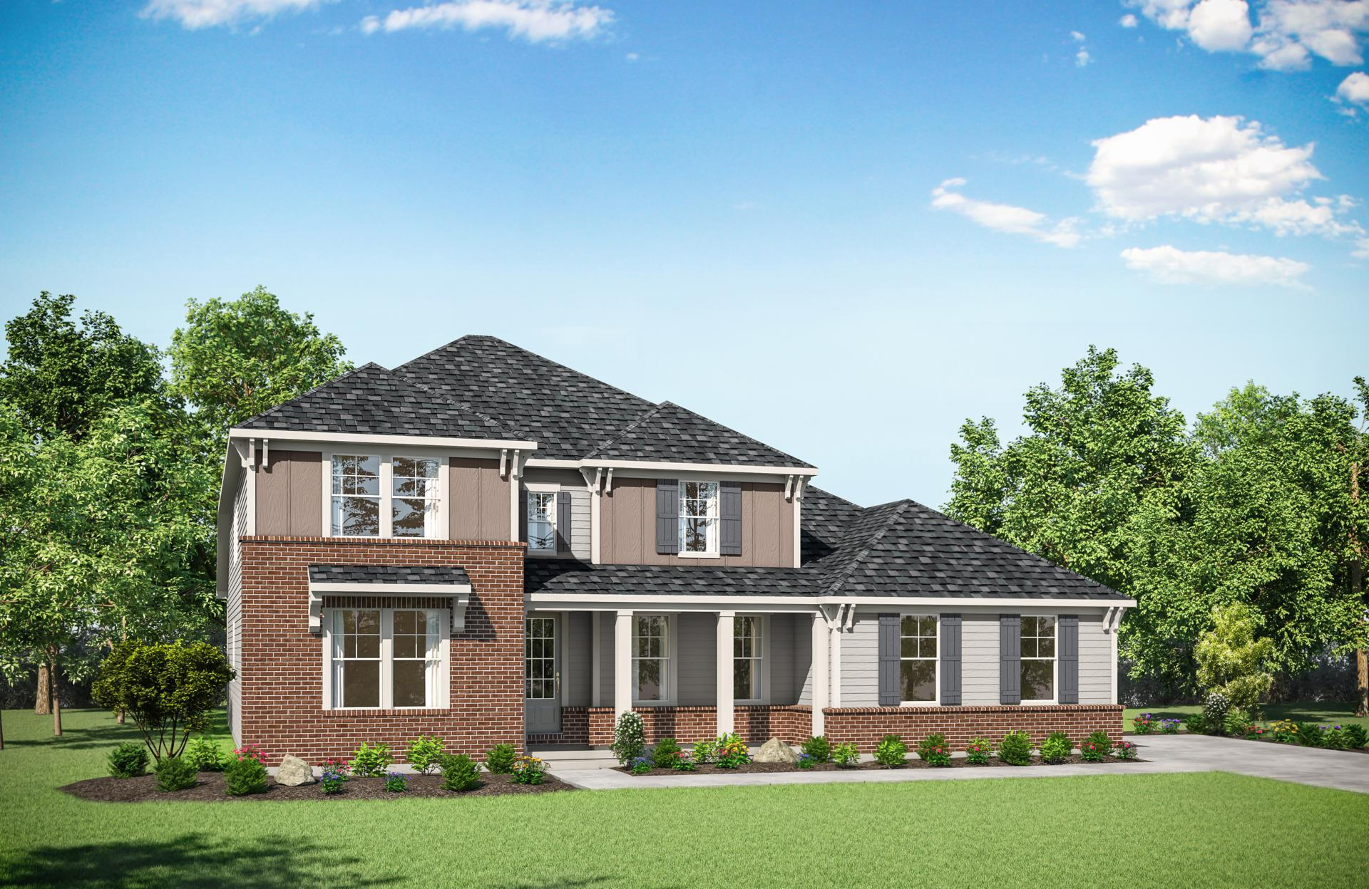 Exterior featured in the Crestwood By Drees Homes in Cincinnati, OH