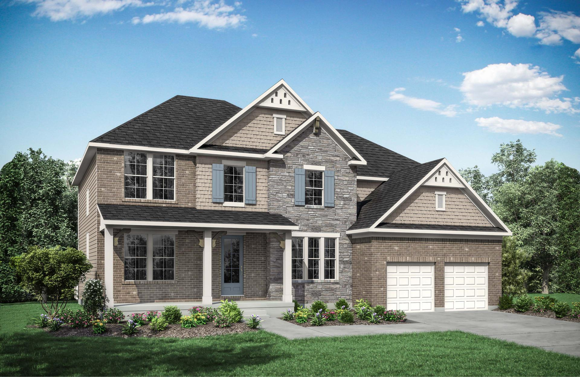 Exterior featured in the Ash Lawn By Drees Homes in Cleveland, OH