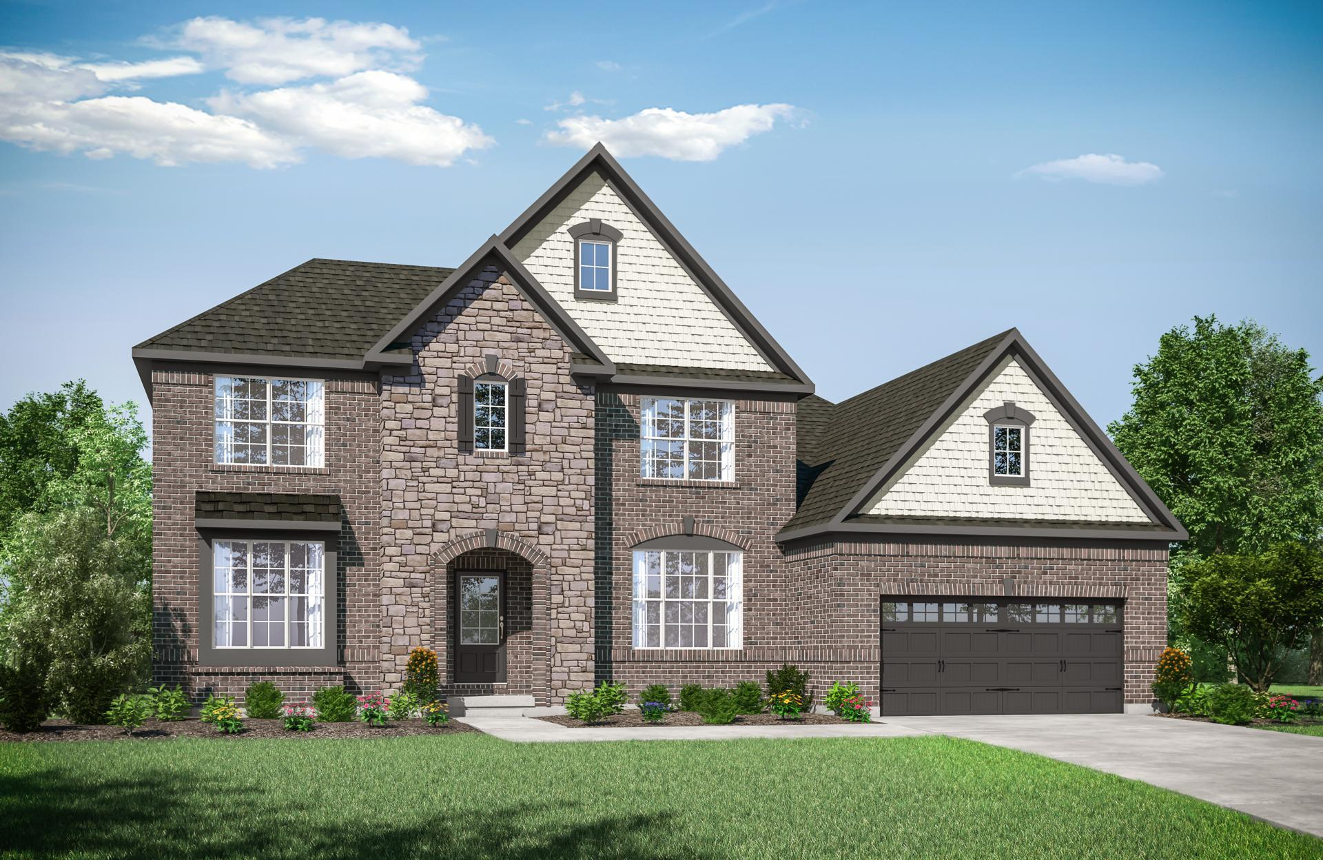 Exterior featured in the Brennan By Drees Homes in Cleveland, OH
