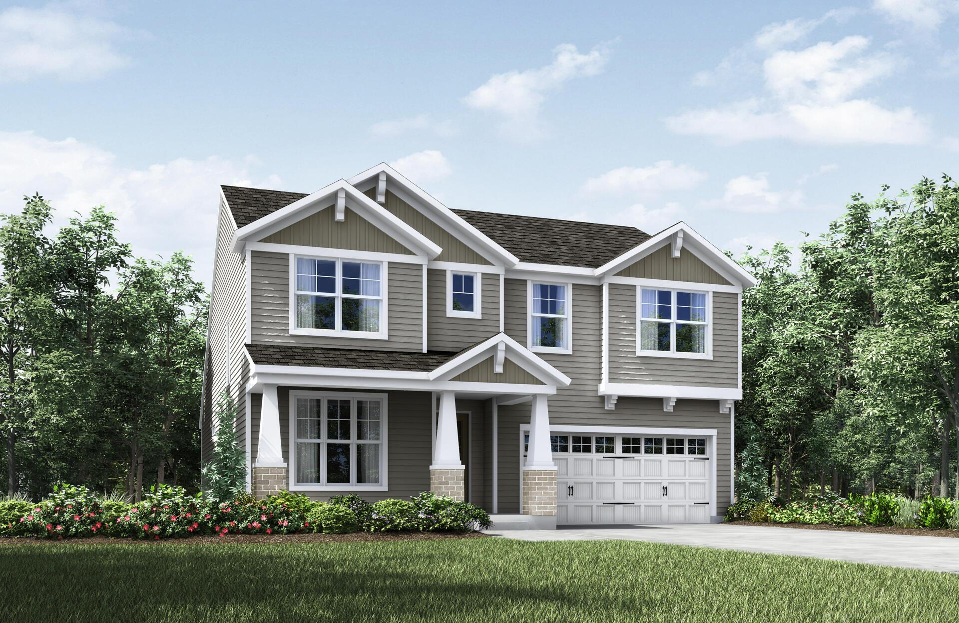 Exterior featured in the Chester By Drees Homes in Cleveland, OH