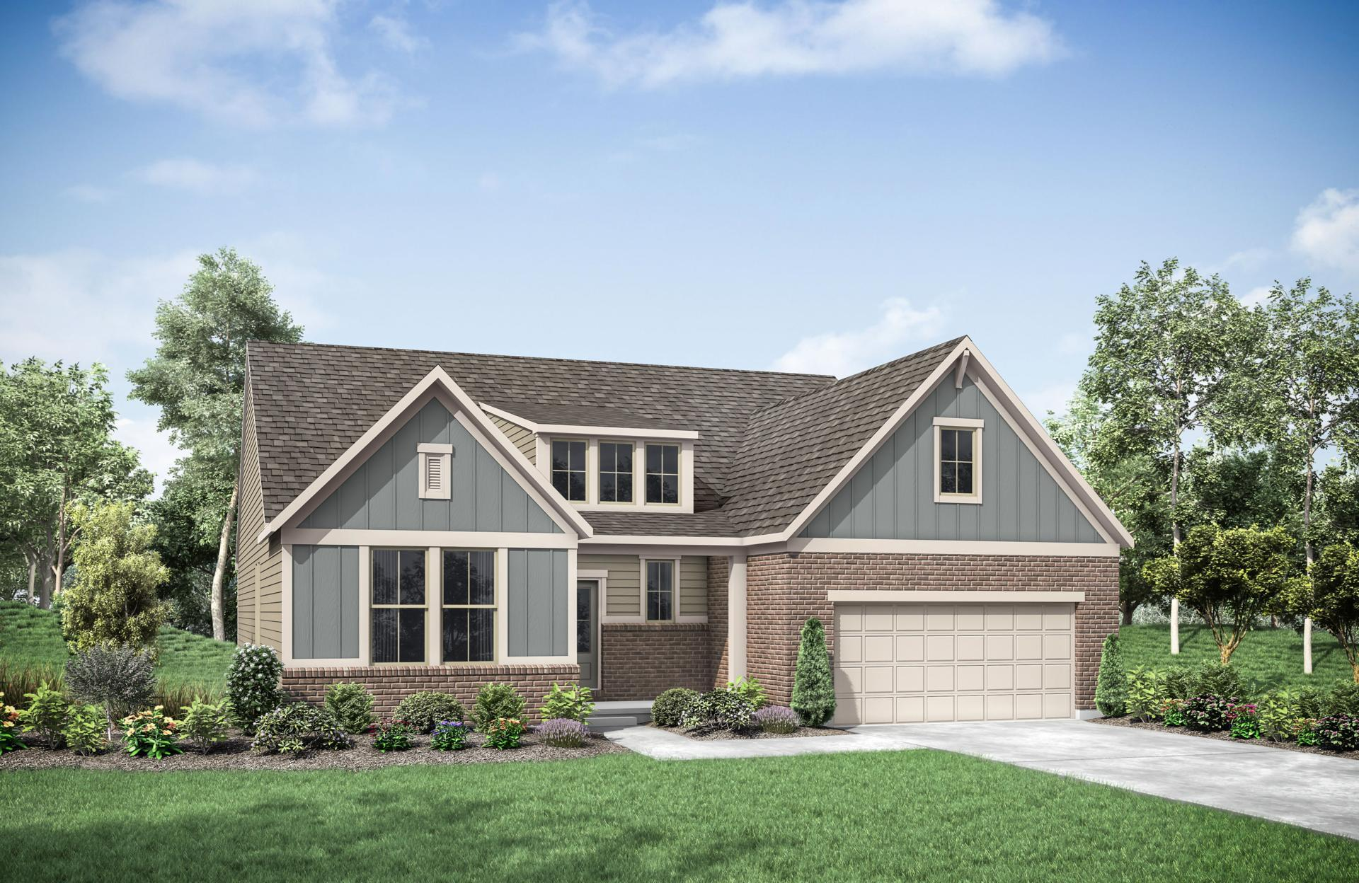Exterior featured in the Naples By Drees Homes in Cincinnati, KY