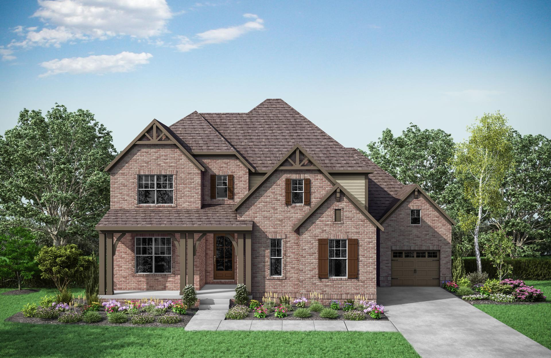 Exterior featured in the Oakdale By Drees Homes in Nashville, TN