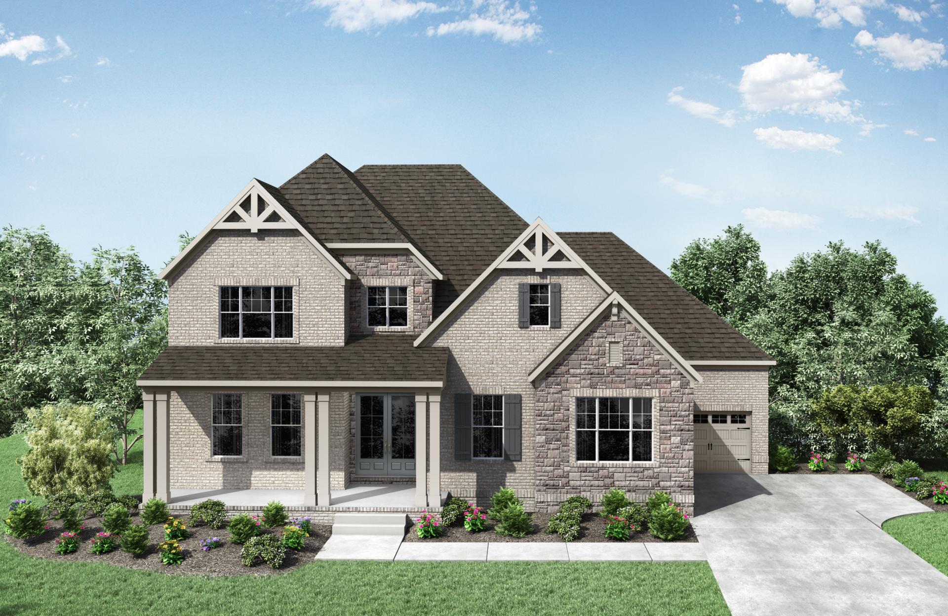 Exterior featured in the Somerville By Drees Homes in Nashville, TN