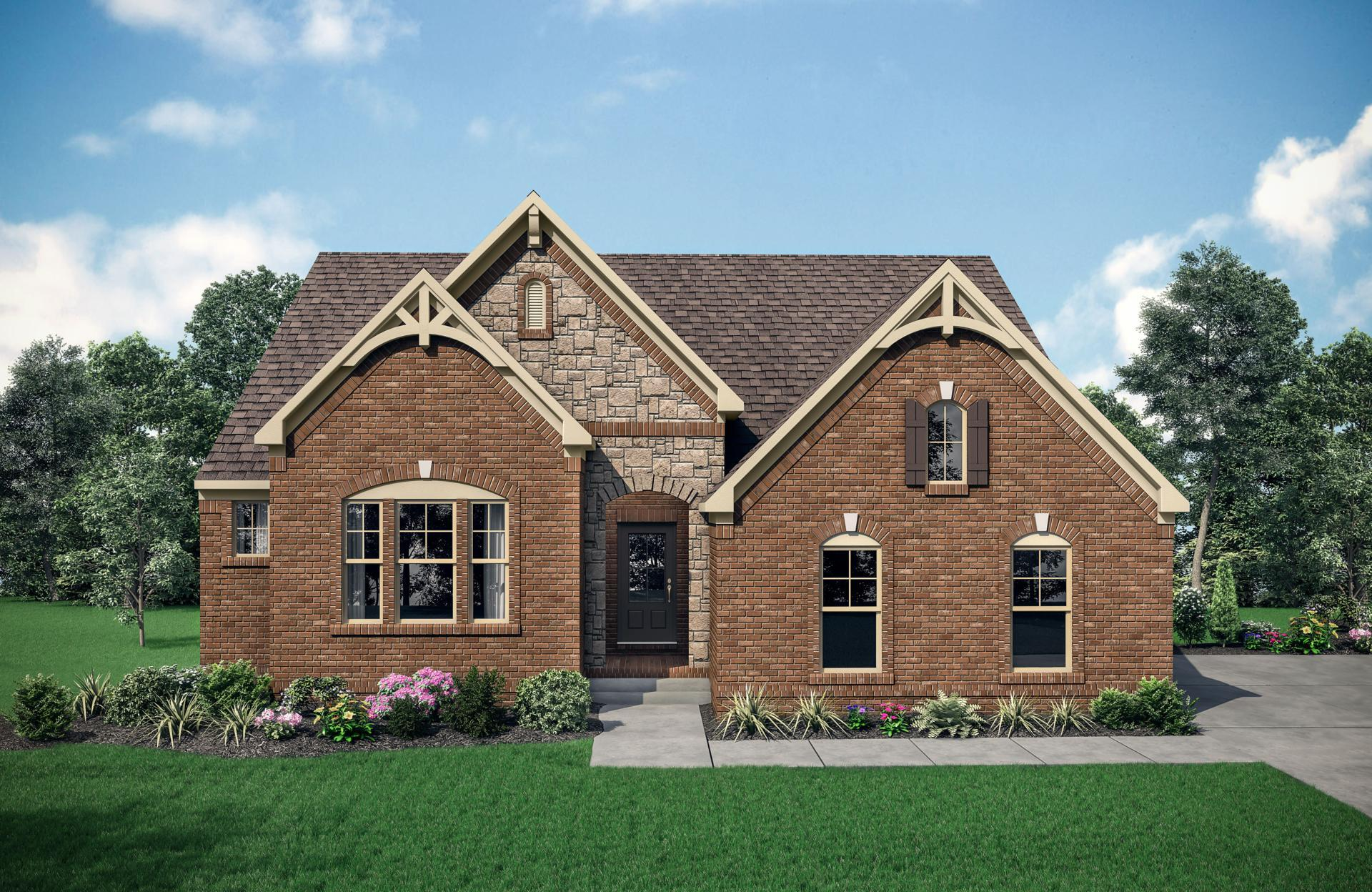 Exterior featured in the Woodbury By Drees Homes in Nashville, TN