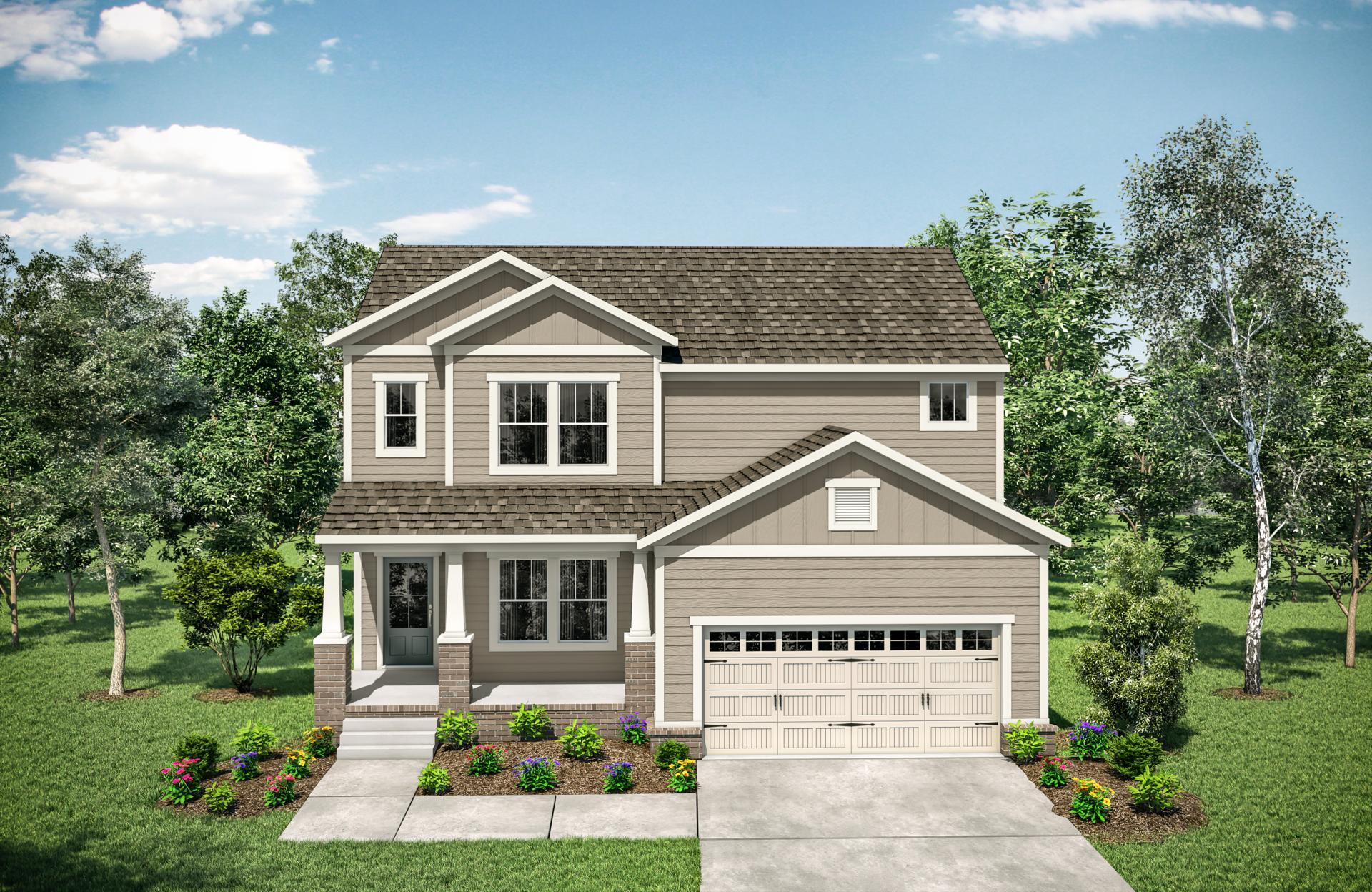 Exterior featured in the Woodland By Drees Homes in Nashville, TN