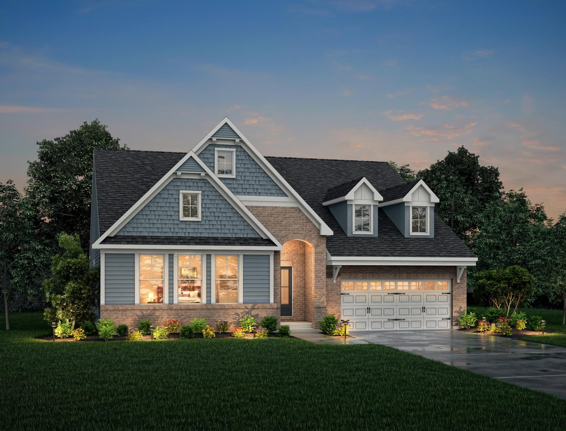 Exterior featured in the Lakeland By Drees Homes in Indianapolis, IN