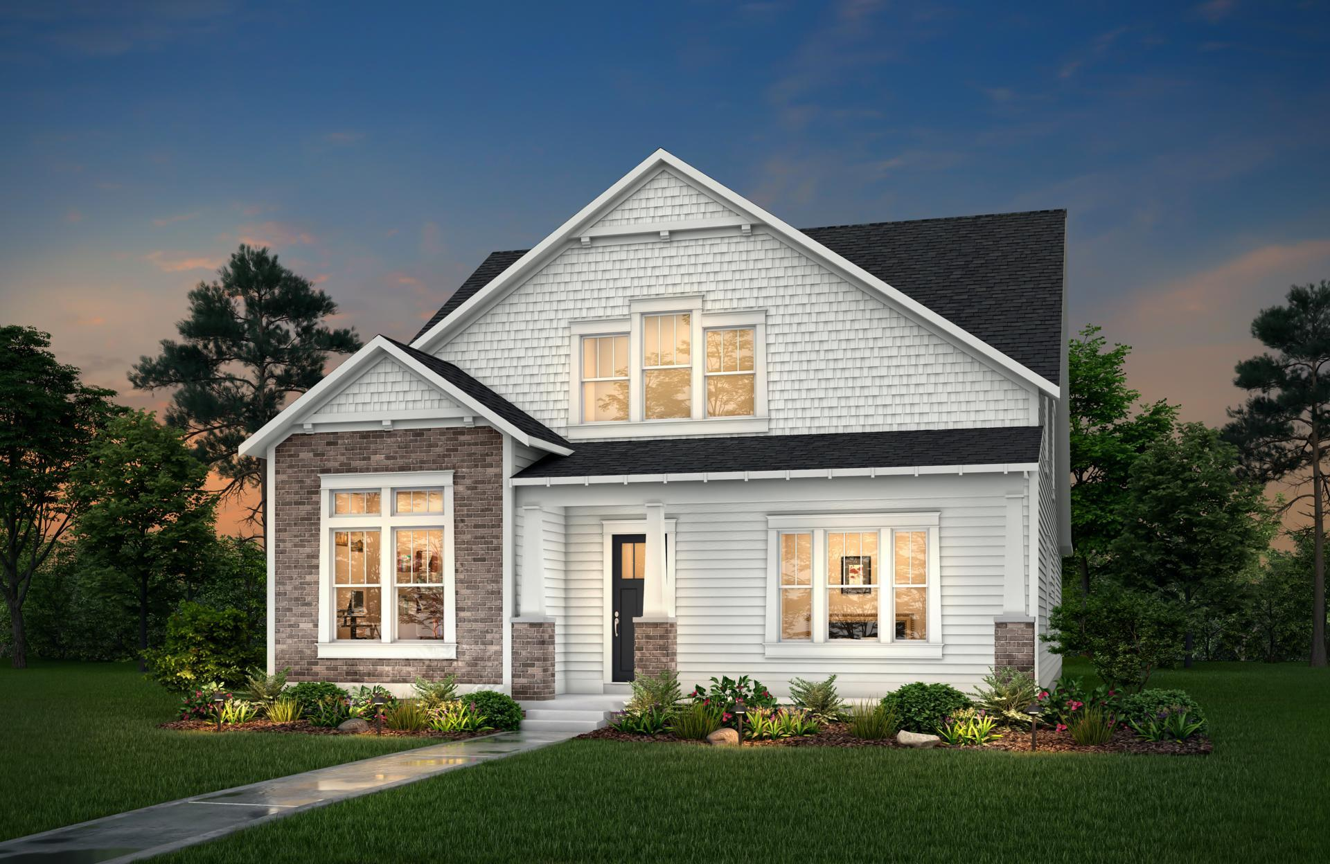 Exterior featured in the Leland By Drees Homes in Indianapolis, IN