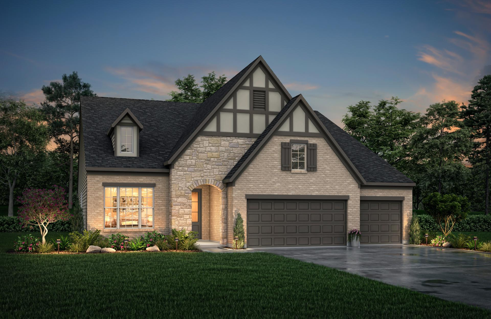Exterior featured in the Parkhill By Drees Homes in Indianapolis, IN