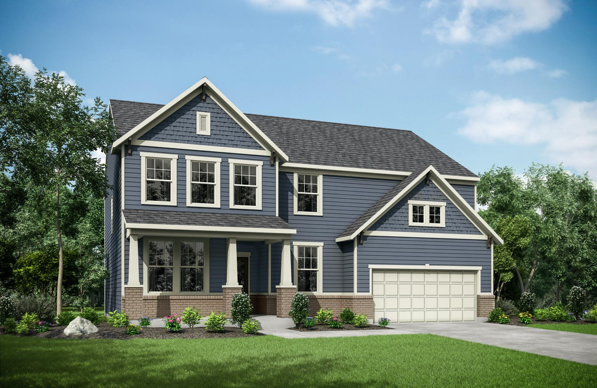 Exterior featured in the Walkerton By Drees Homes in Indianapolis, IN