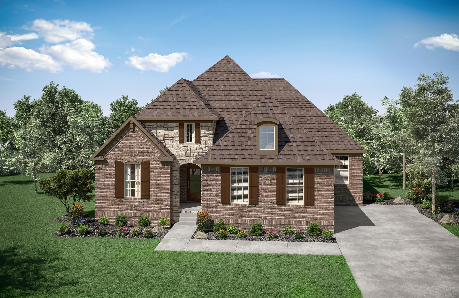 Exterior featured in the Parkhill By Drees Homes in Nashville, TN