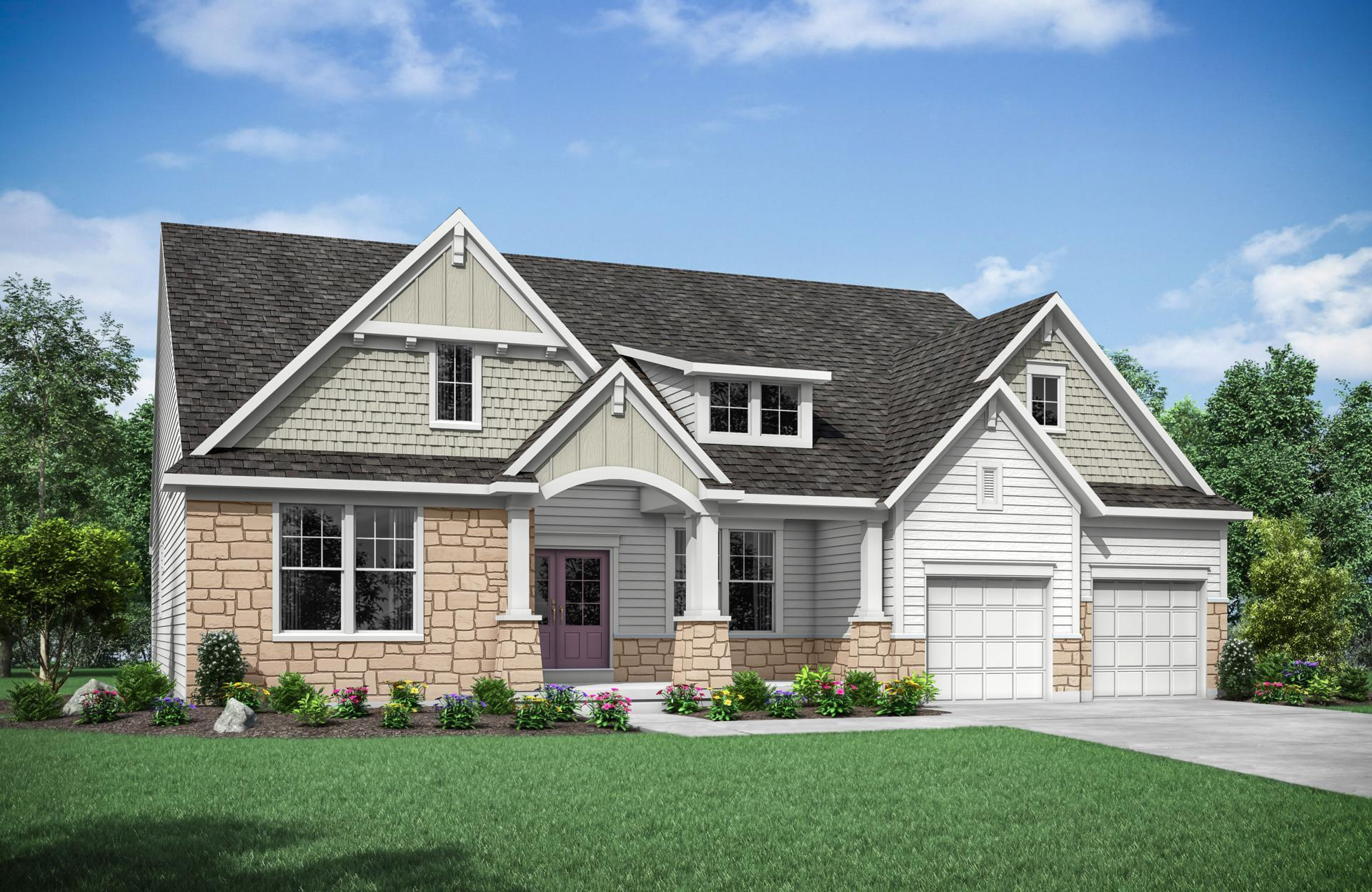 Exterior featured in the Sebastian By Drees Homes in Cleveland, OH