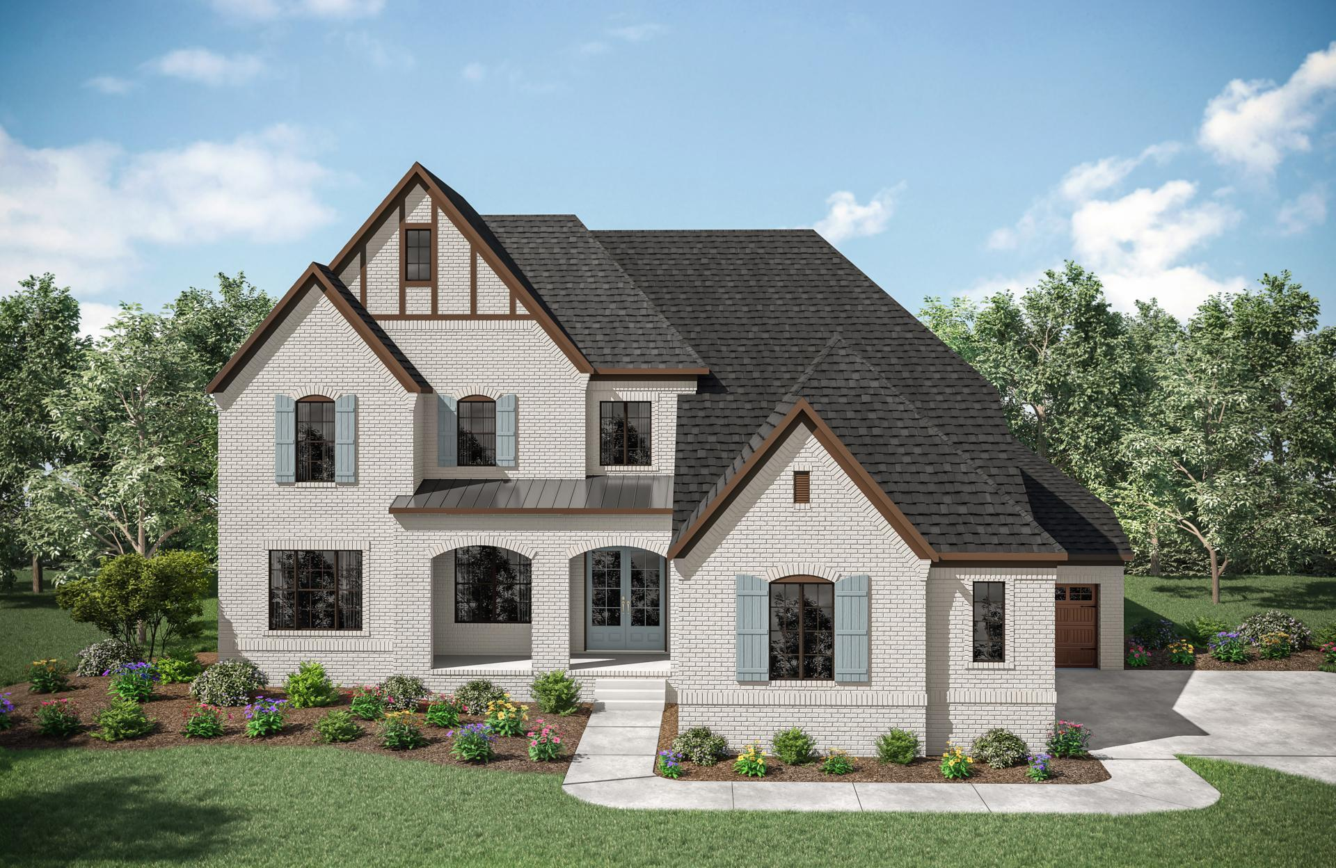 Exterior featured in the Elmsdale By Drees Homes in Nashville, TN