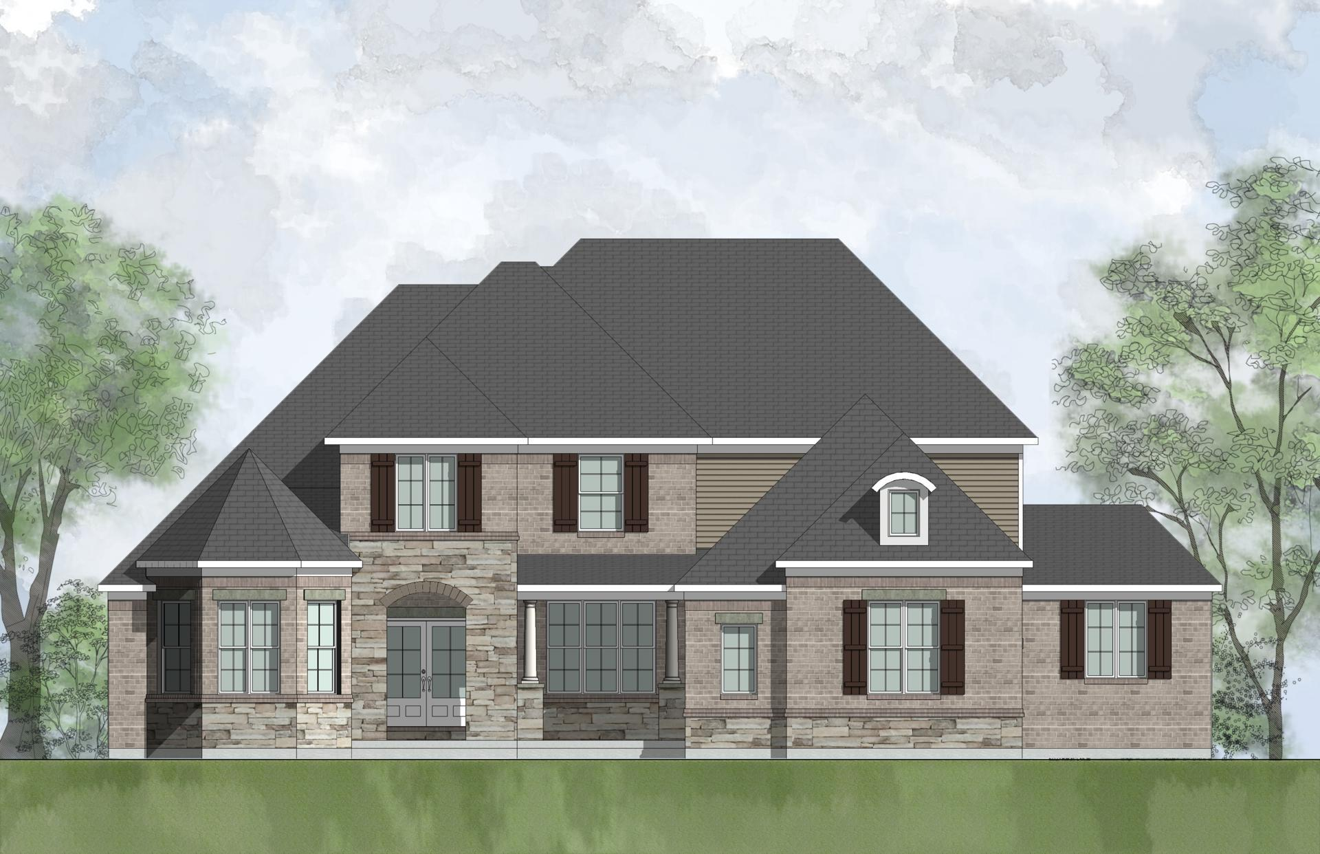 Exterior featured in the Oak Hill By Drees Homes in Indianapolis, IN