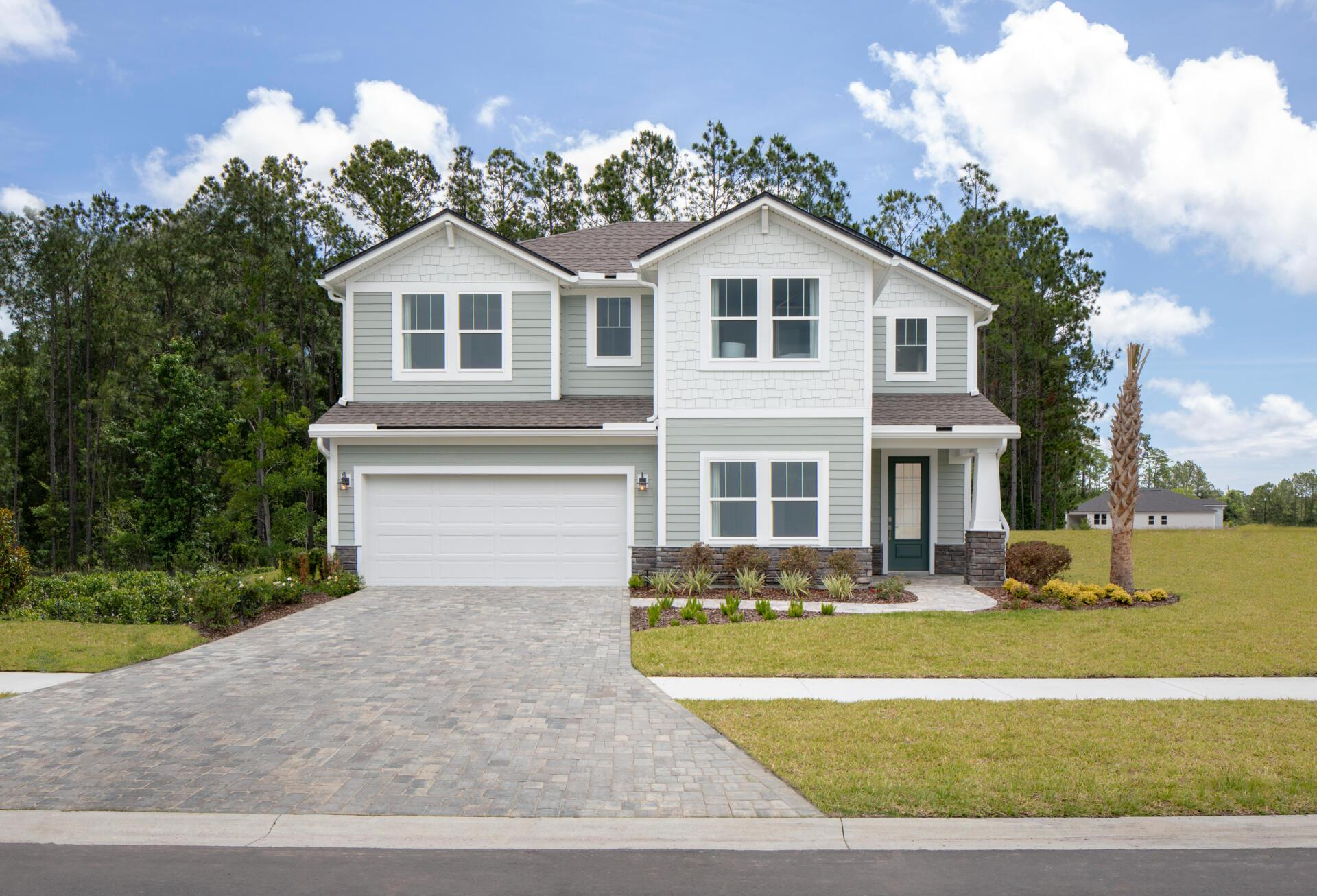 Exterior featured in the Cormorant By Drees Homes in Jacksonville-St. Augustine, FL