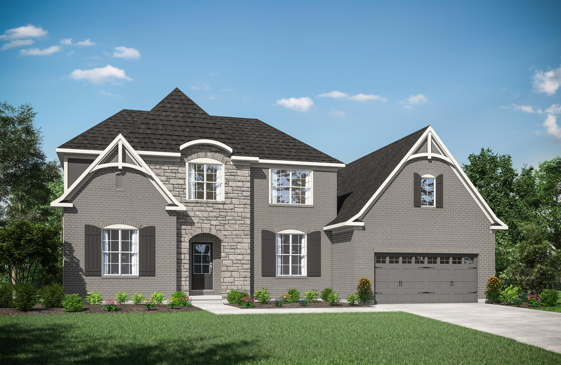 Exterior featured in the Brennan By Drees Homes in Cincinnati, OH