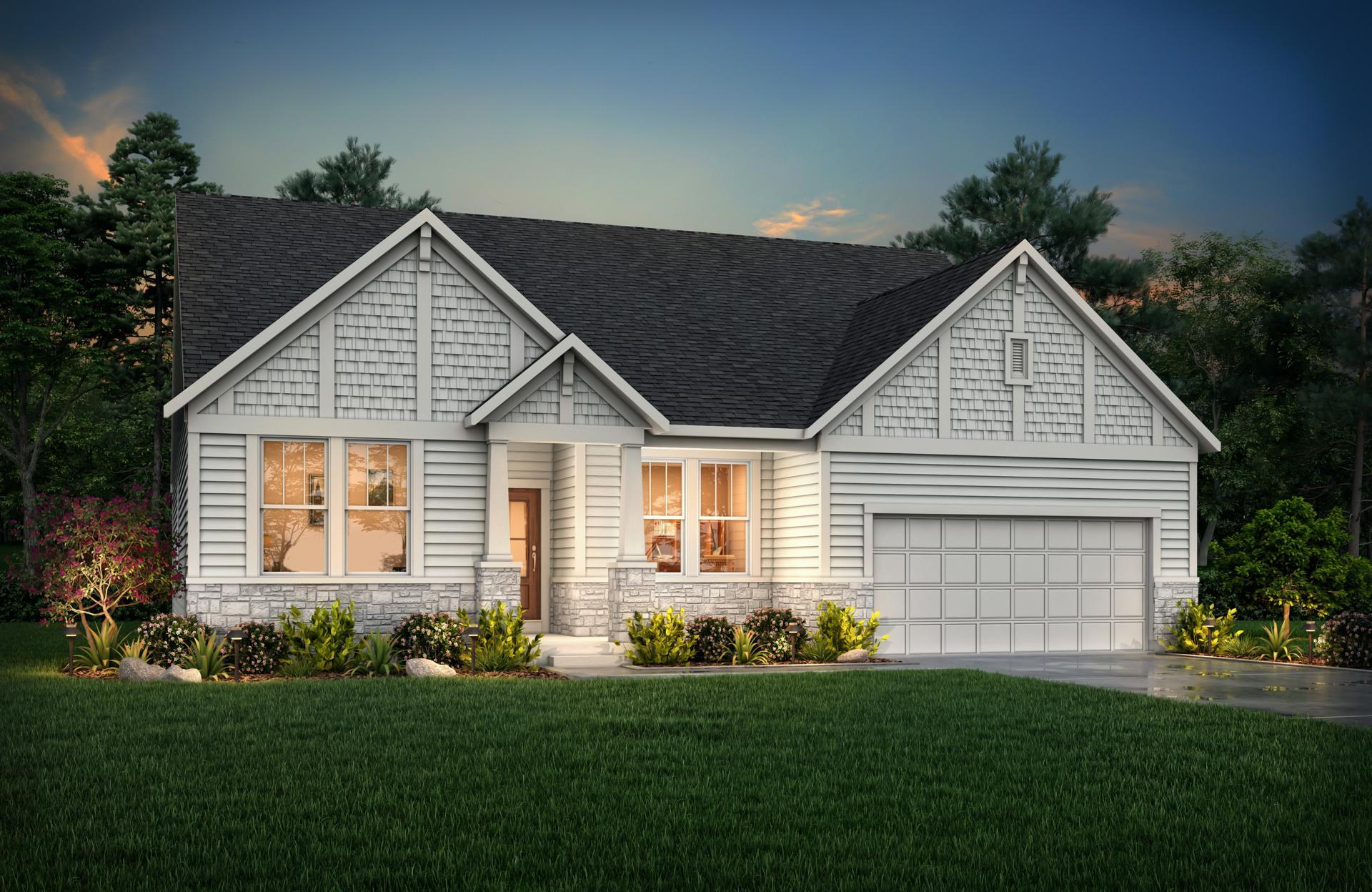 Exterior featured in the Shelburn By Drees Homes in Cincinnati, KY