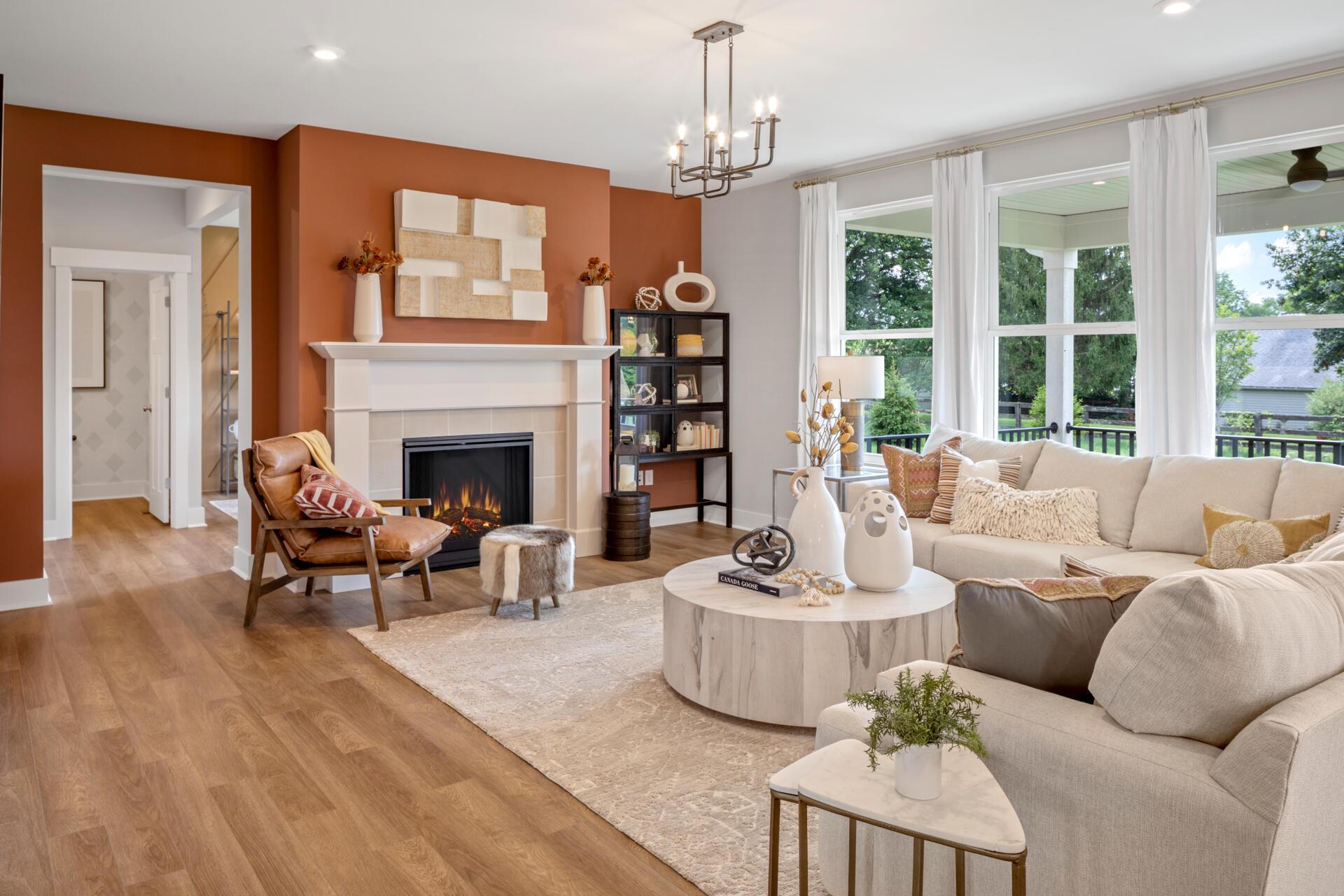 Living Area featured in the Vanderburgh By Drees Homes in Cincinnati, OH