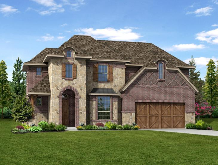 New home rendering of Sawyer floor plan exterior elevation A by Dunhill Homes:Sawyer - Exterior Elevation A